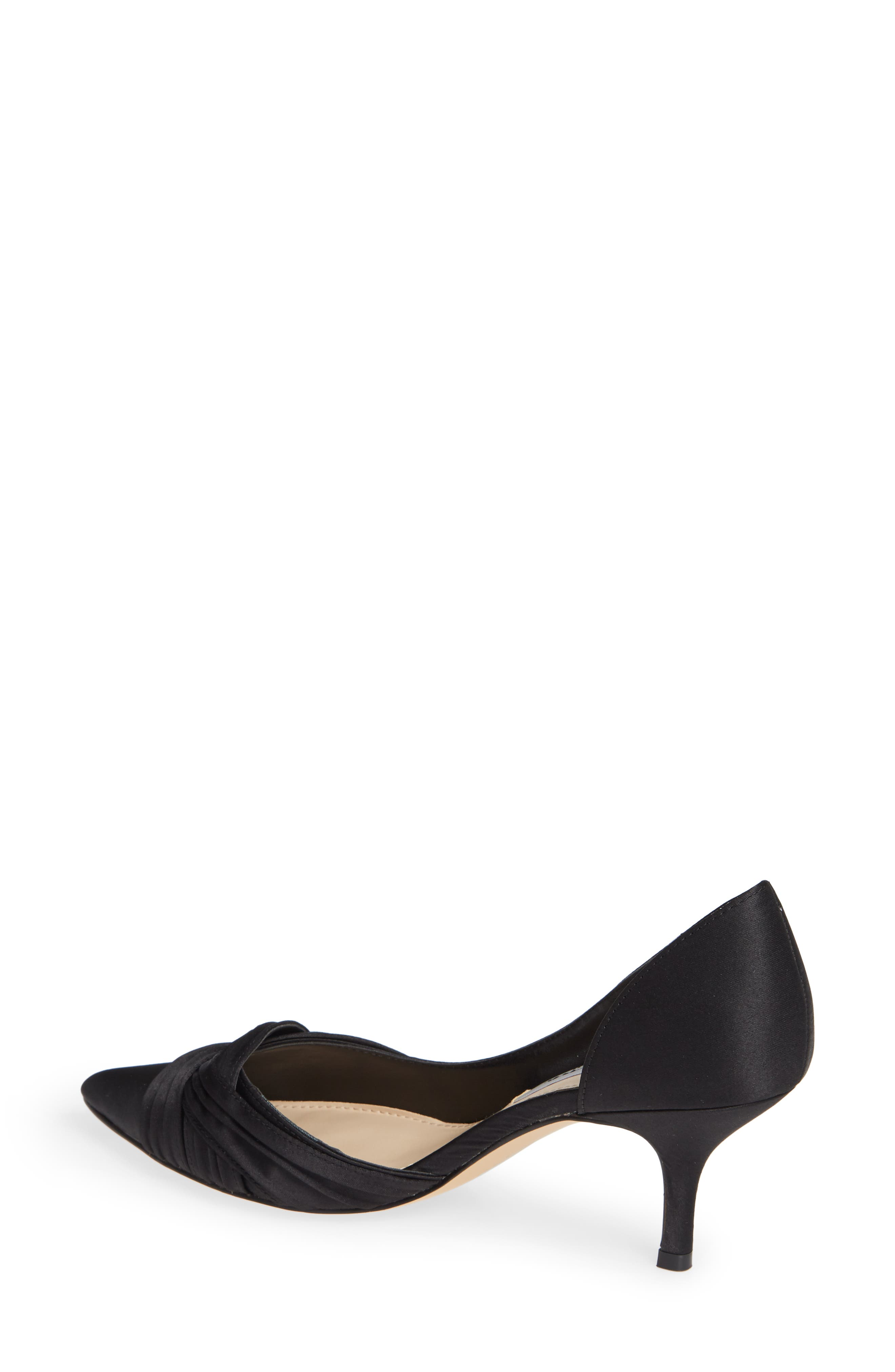 Blakely Half d'Orsay Pointy Toe Pump,                             Alternate thumbnail 2, color,                             BLACK SATIN