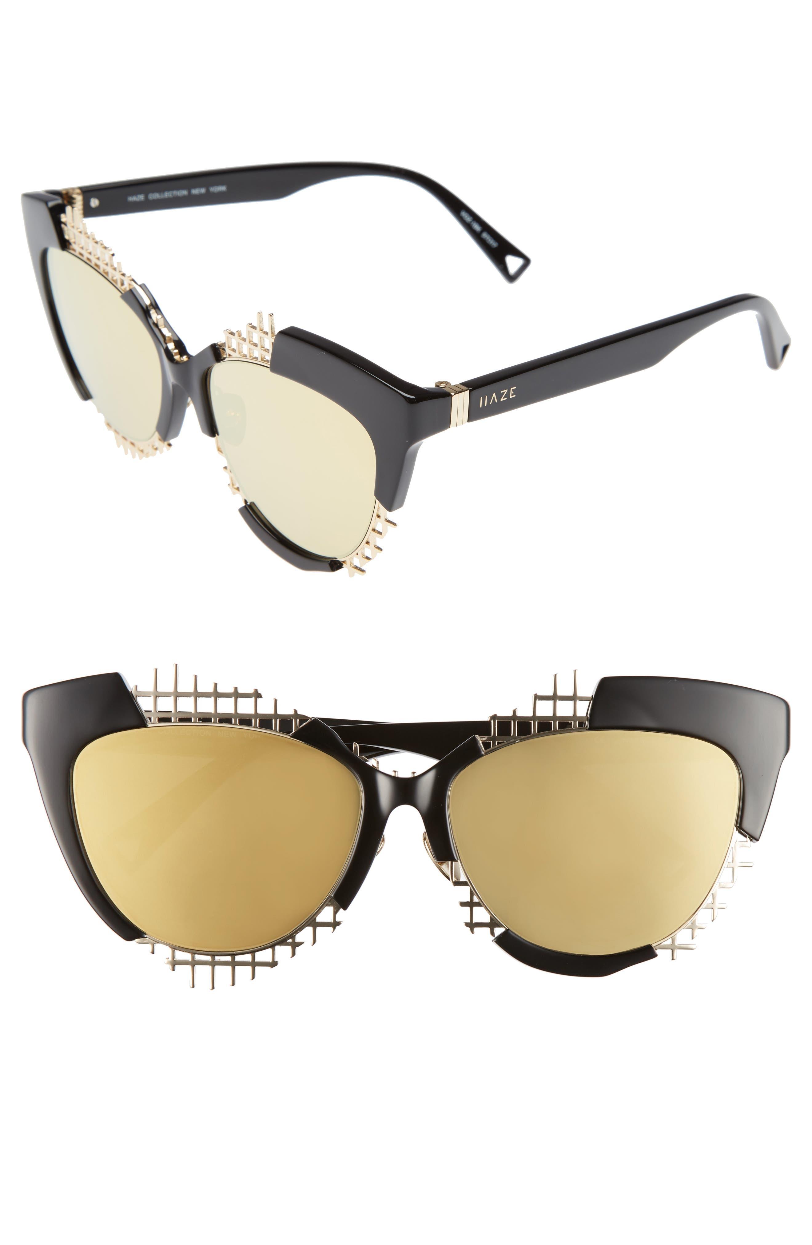 Voz 55mm Cat Eye Sunglasses,                             Main thumbnail 1, color,