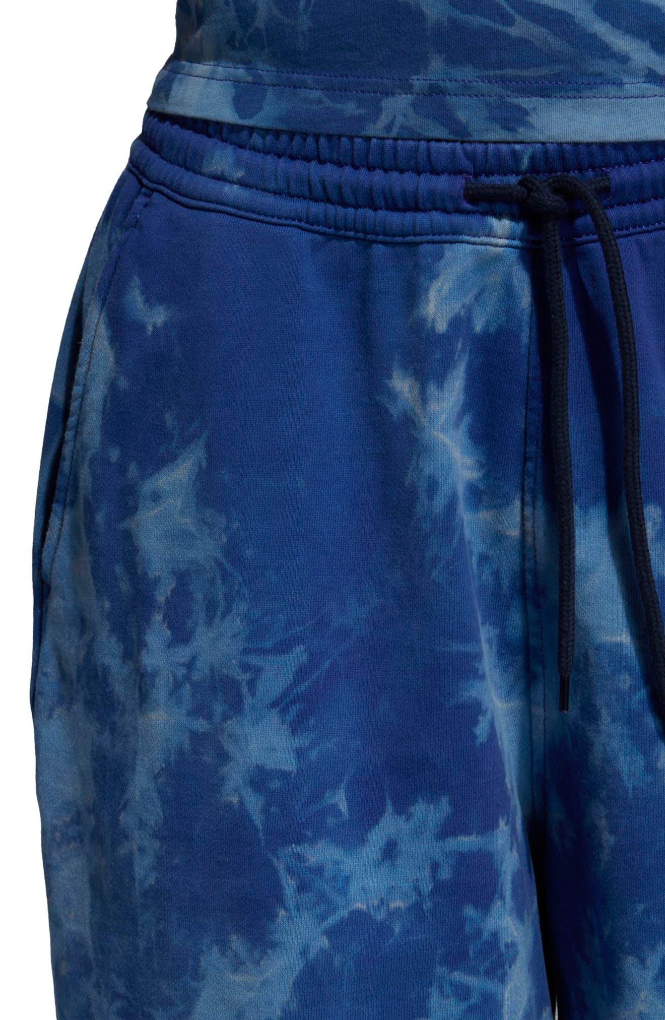 Tie Dye Shorts,                             Alternate thumbnail 4, color,                             LEGEND INK