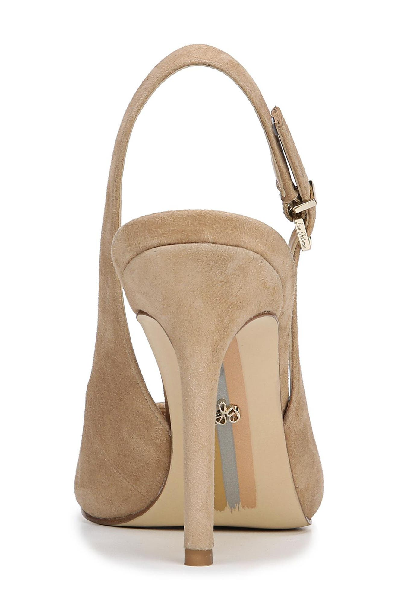 Hastings Slingback Pump,                             Alternate thumbnail 7, color,                             OATMEAL SUEDE LEATHER