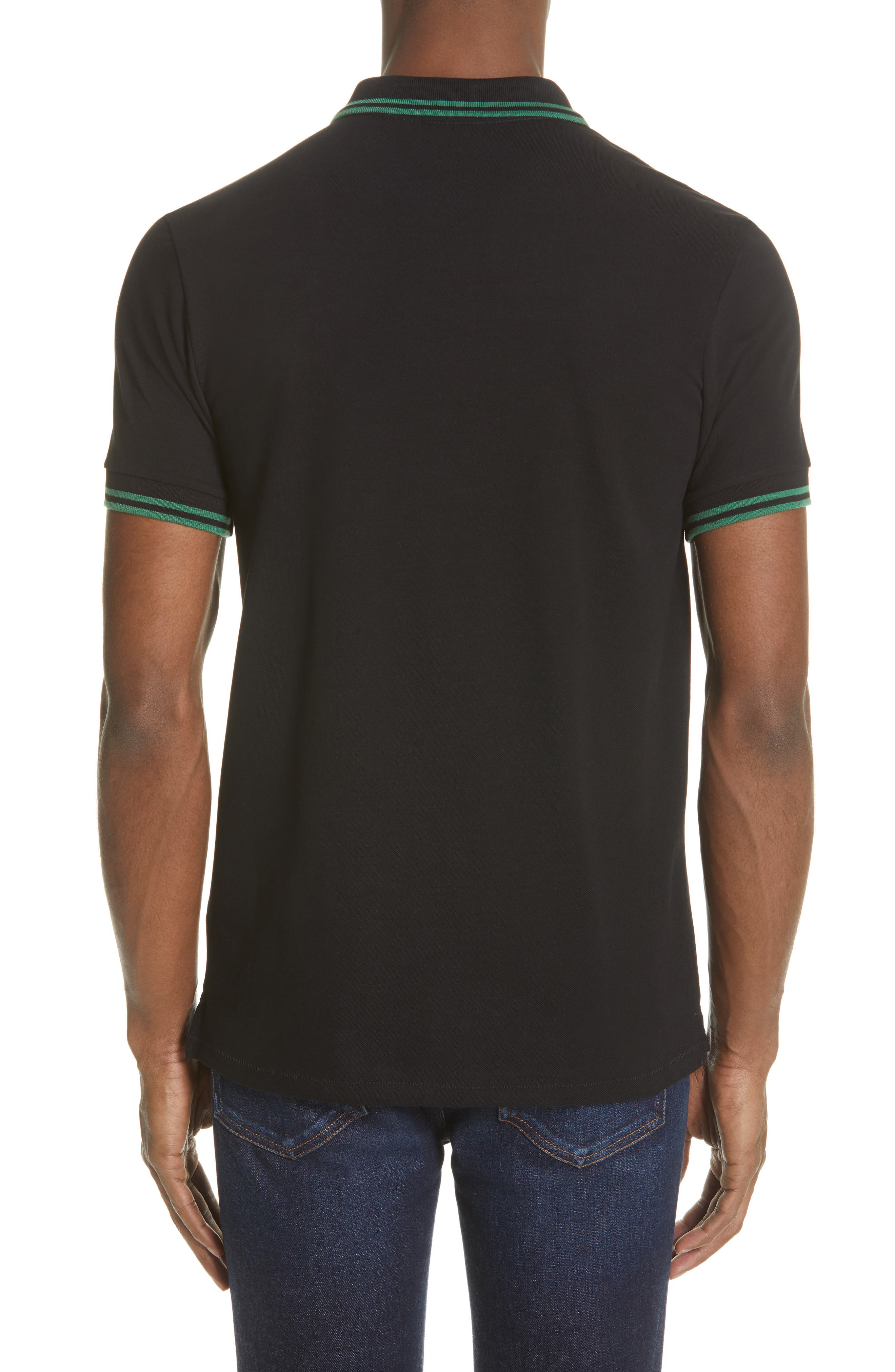 PS PAUL SMITH,                             Piped Collar Polo,                             Alternate thumbnail 2, color,                             BLACK