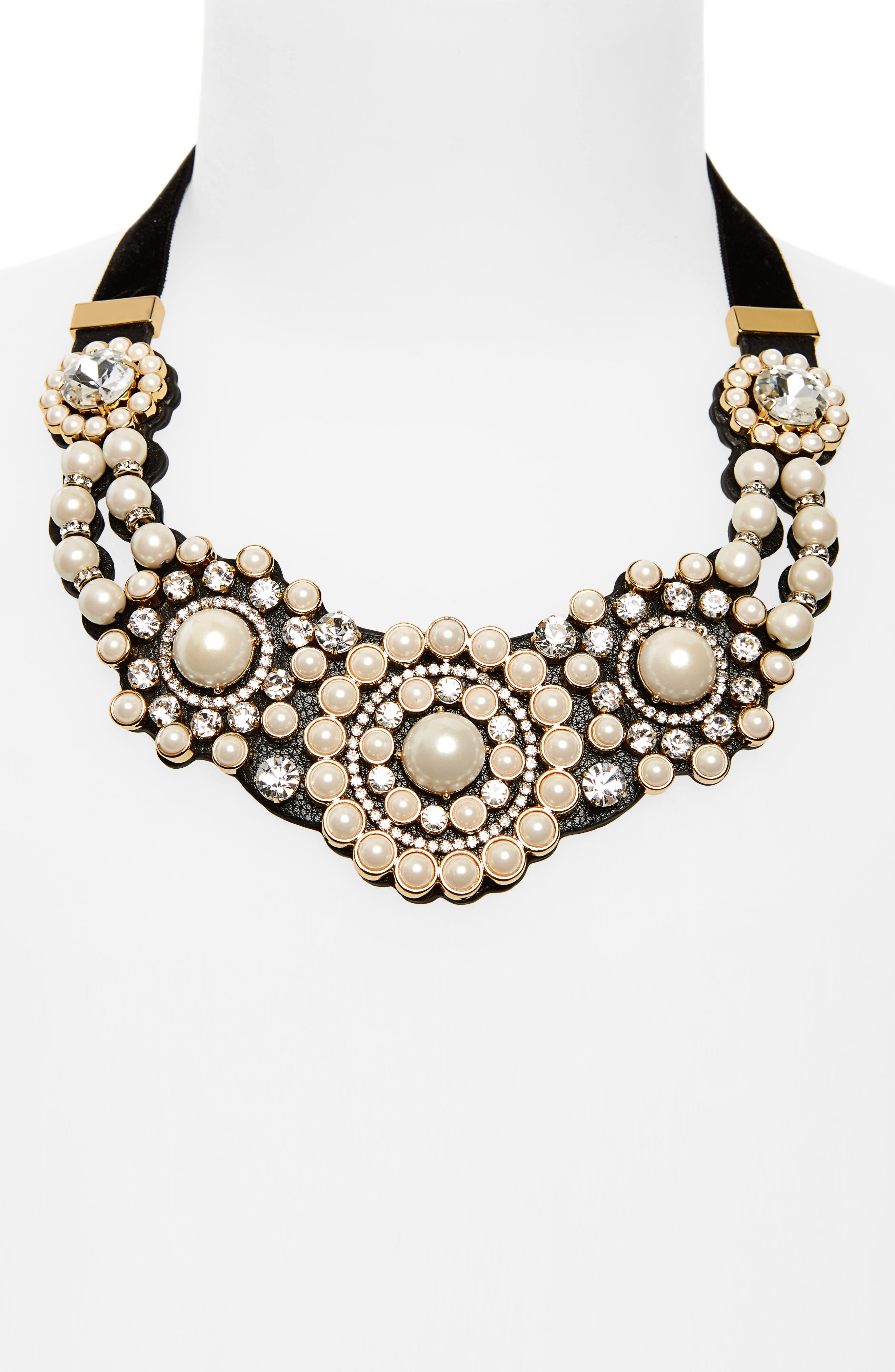 luminous small statement necklace,                             Alternate thumbnail 4, color,