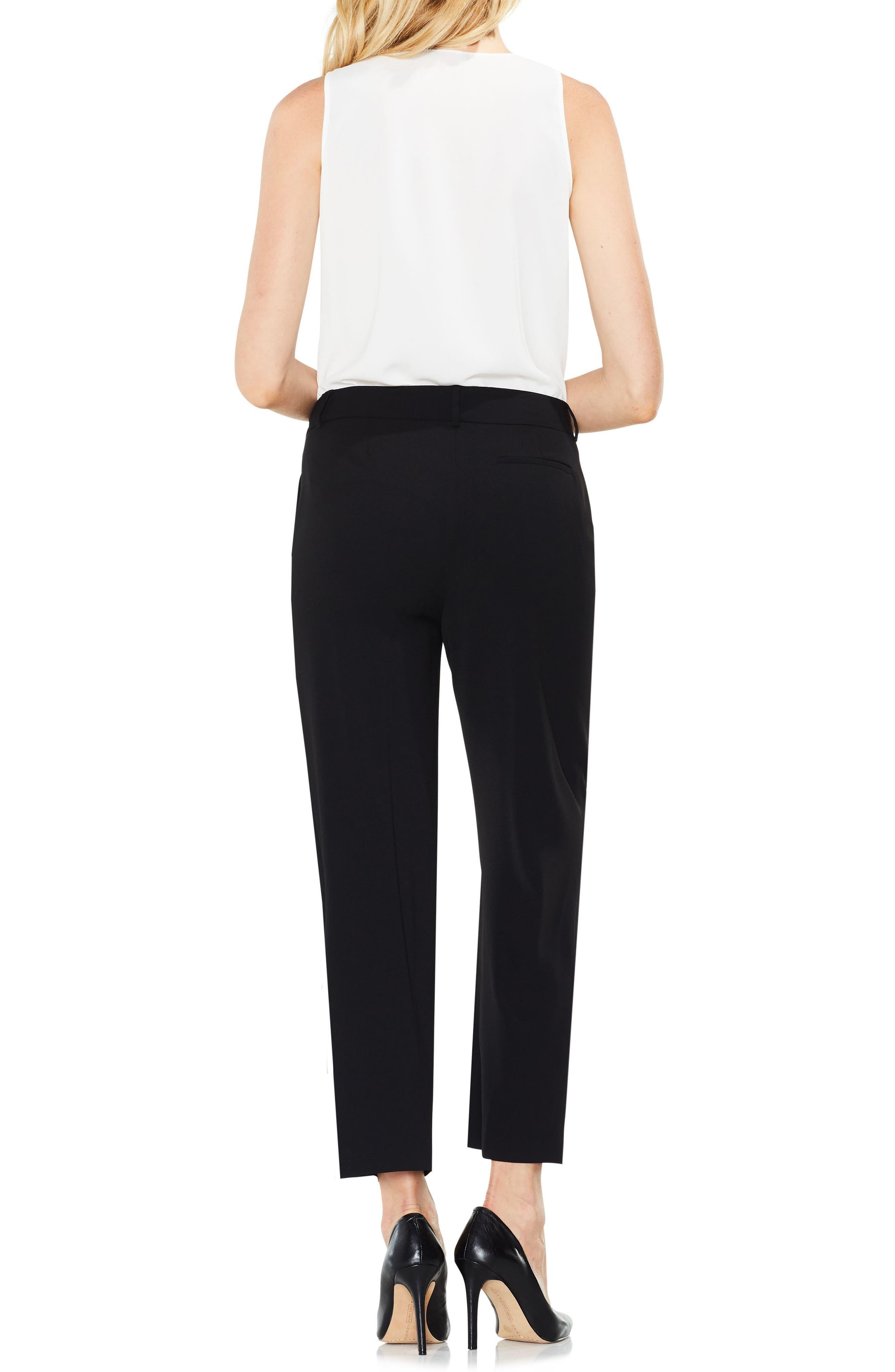 Straight Leg Crop Pants,                             Alternate thumbnail 2, color,                             RICH BLACK