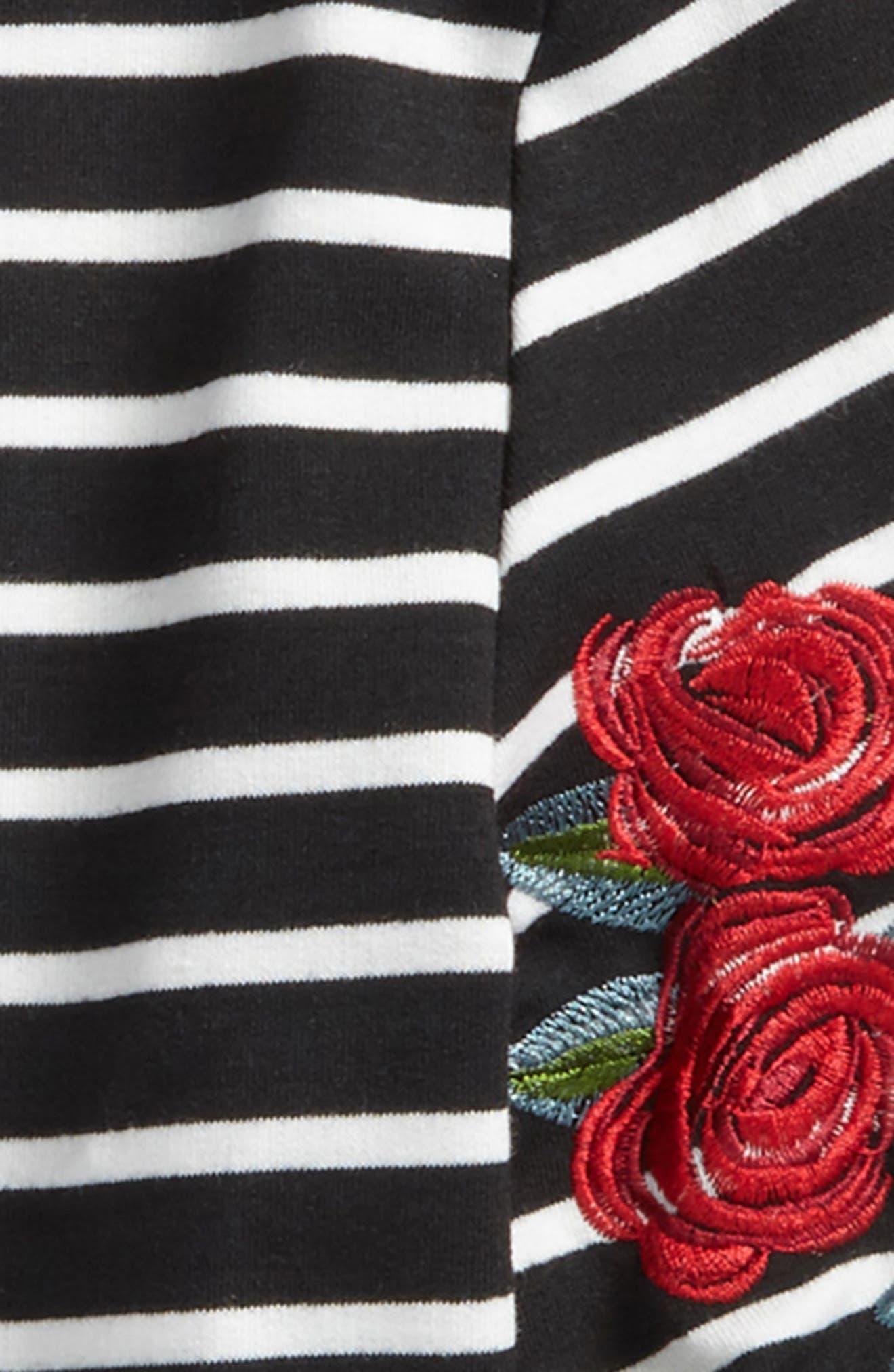 Embroidered Stripe Sweatshirt,                             Alternate thumbnail 2, color,                             001