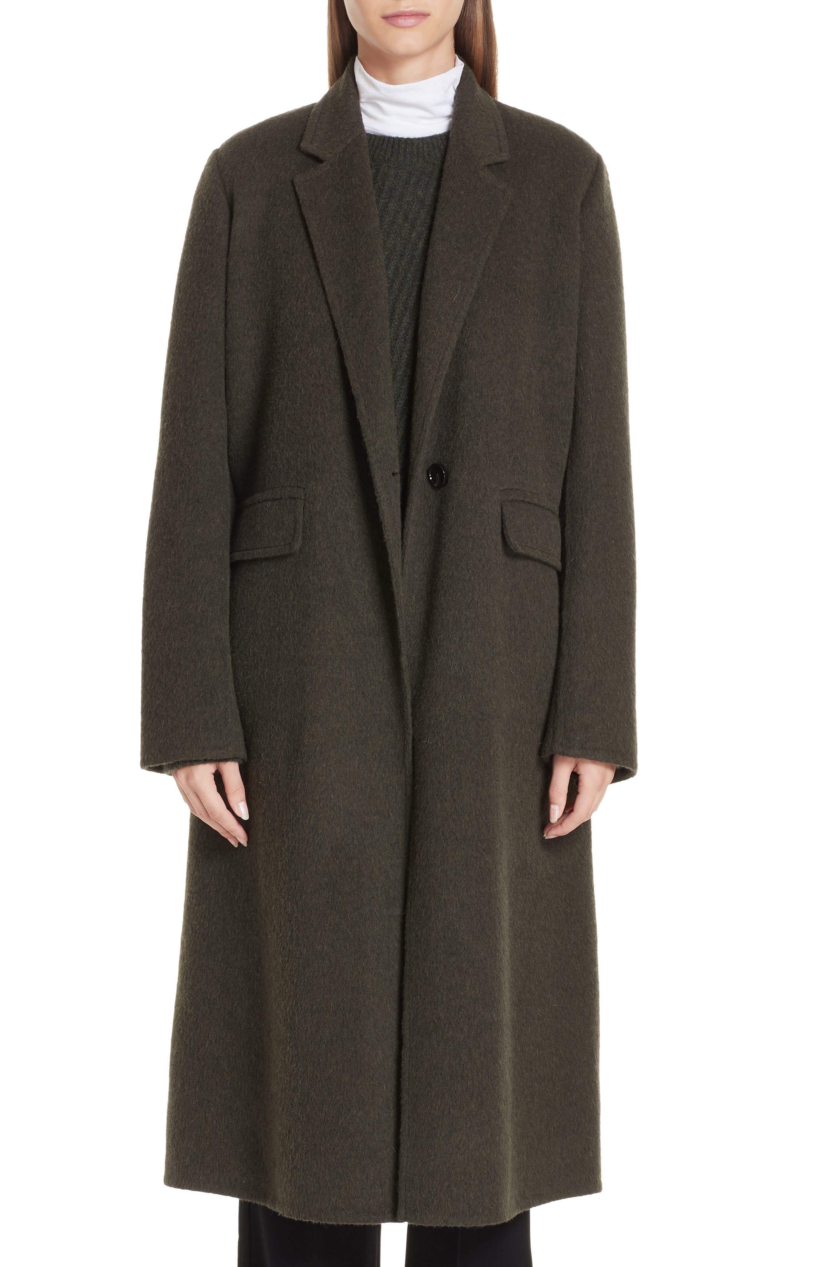 VINCE Long Wool Alpaca Blend Coat, Main, color, 341