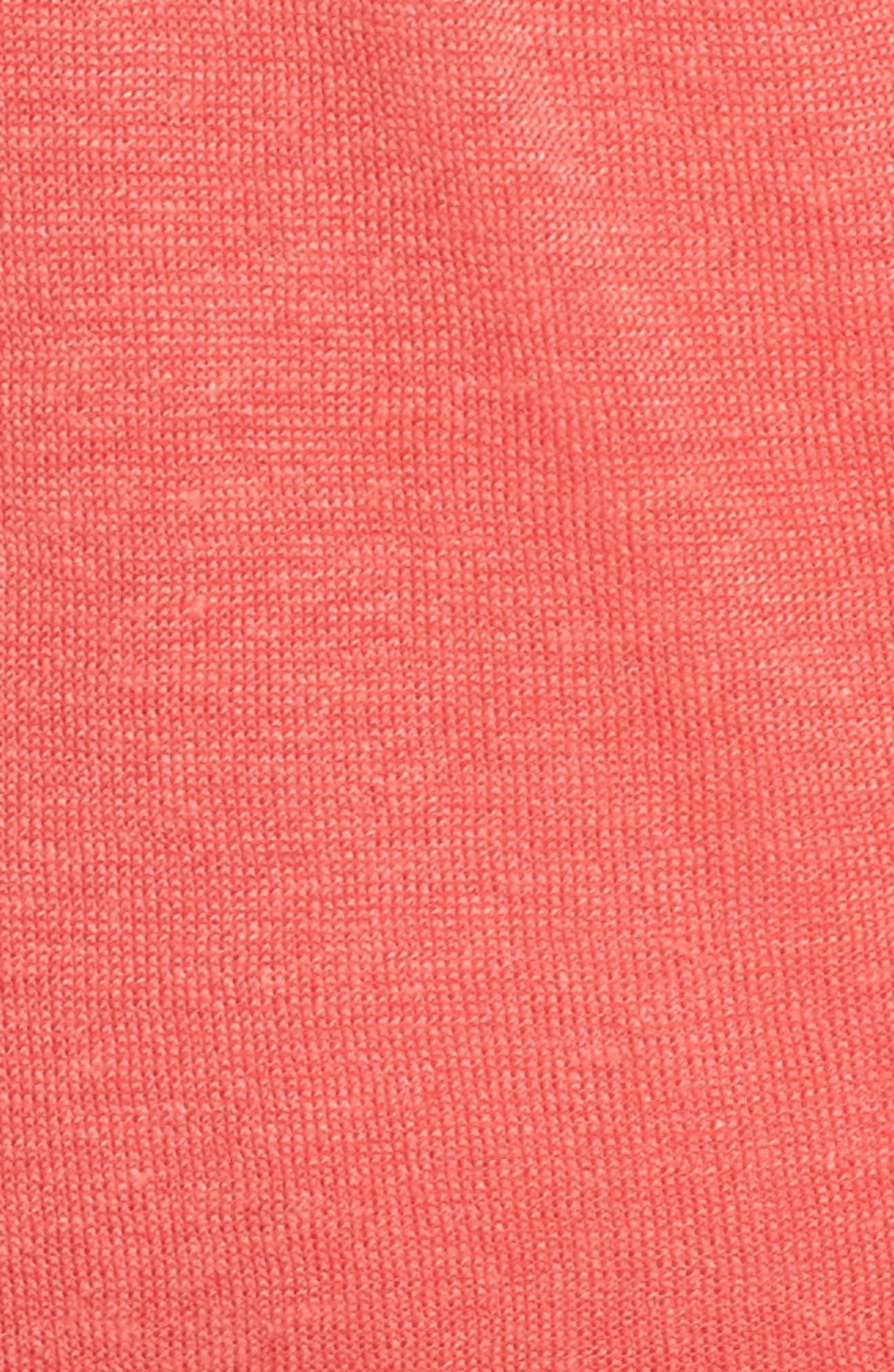Four-Way Convertible Cardigan,                             Alternate thumbnail 5, color,                             CORAL CRUSH