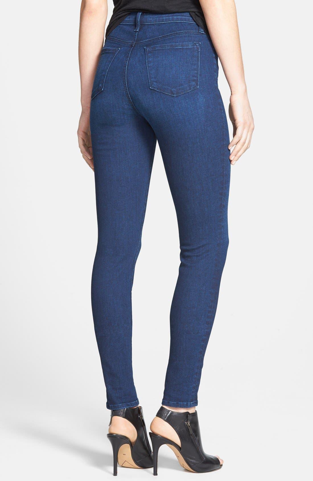 J BRAND,                             'Maria' High Rise Skinny Jeans,                             Alternate thumbnail 3, color,                             400