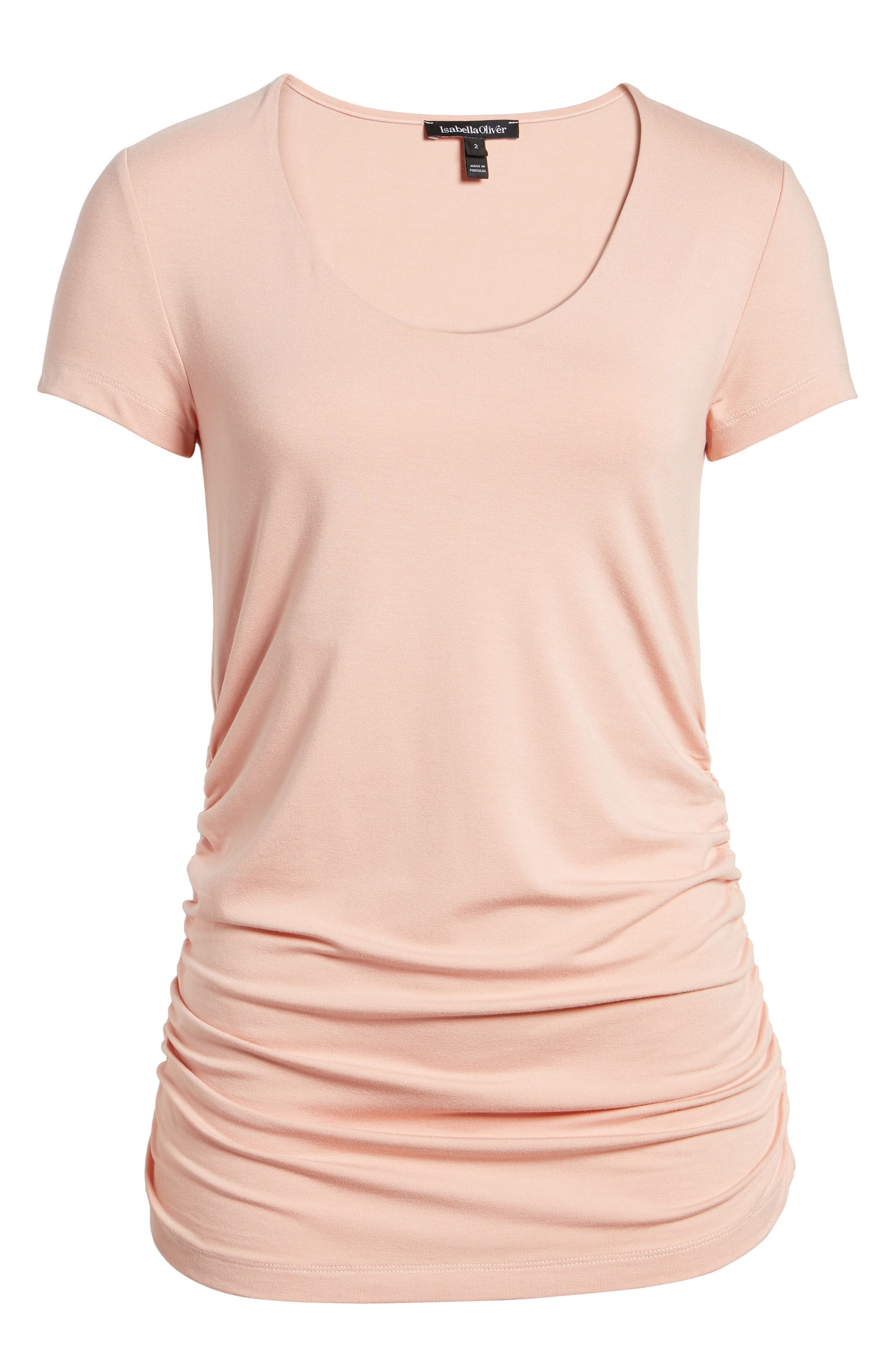 Scoop Neck Maternity Tee,                             Alternate thumbnail 6, color,                             QUARTZ PINK