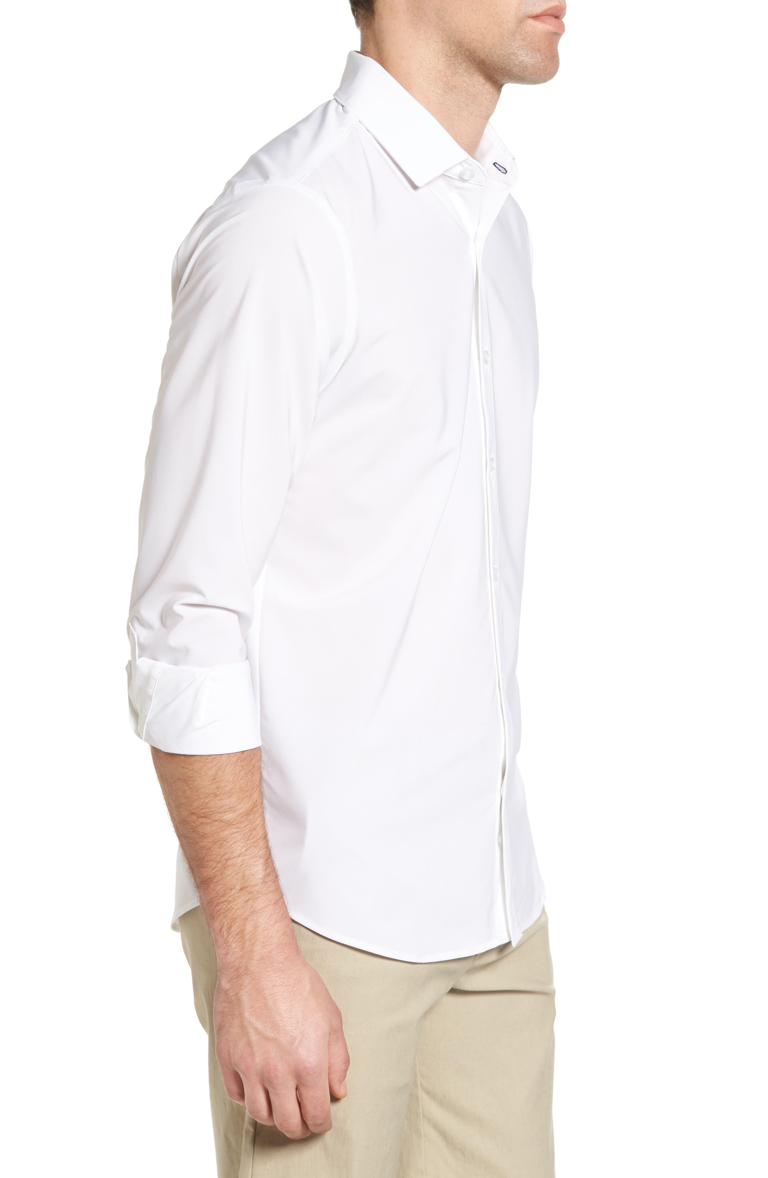 Manhattan Sport Shirt,                             Alternate thumbnail 3, color,                             WHITE