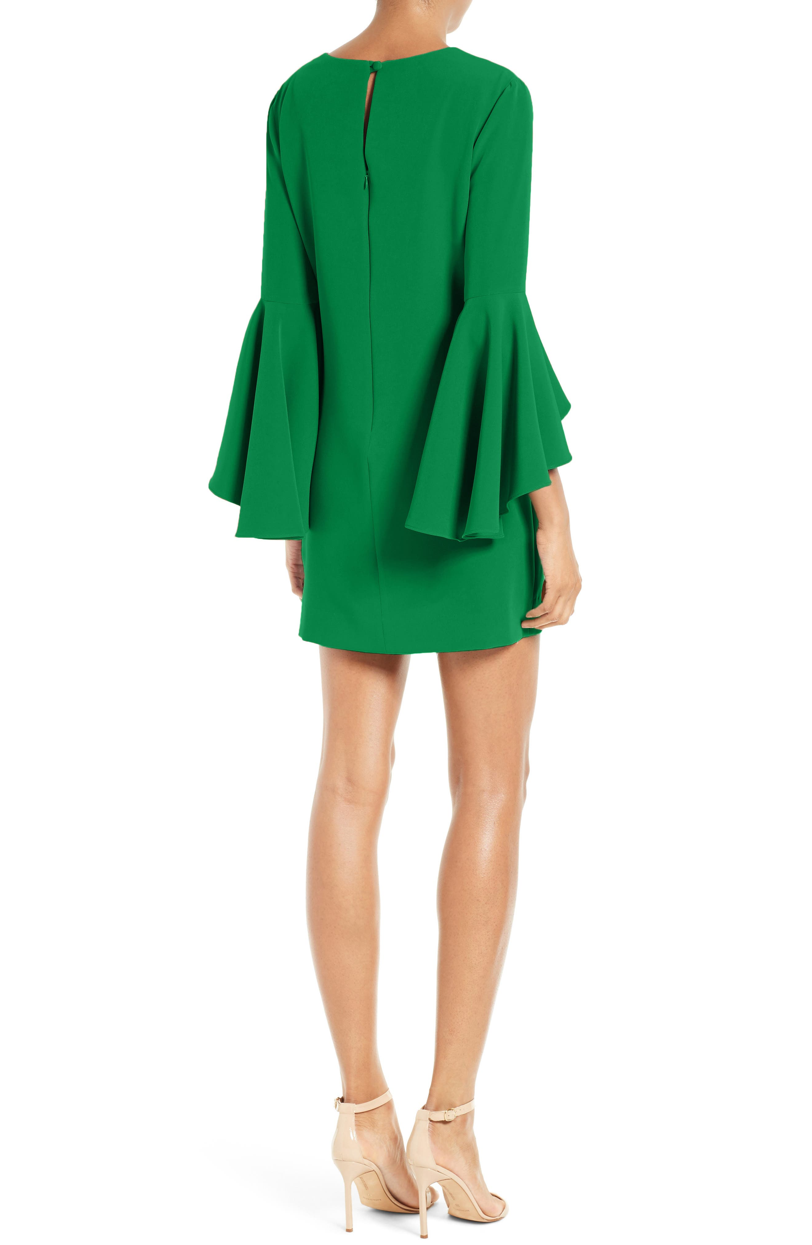 Nicole Bell Sleeve Dress,                             Alternate thumbnail 21, color,