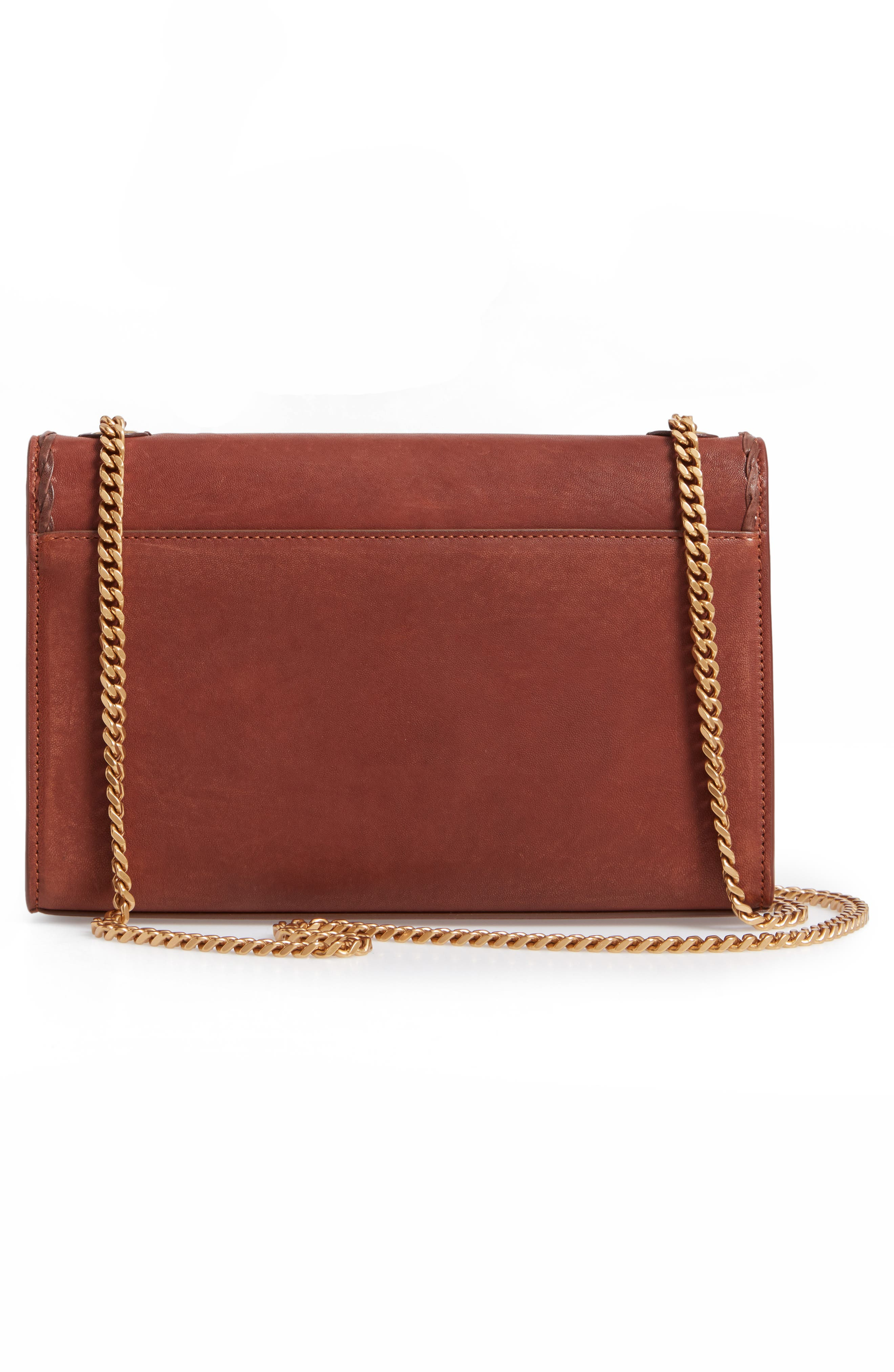 Medium Kate Studded Leather Crossbody Bag,                             Alternate thumbnail 3, color,                             BROWN MULTI