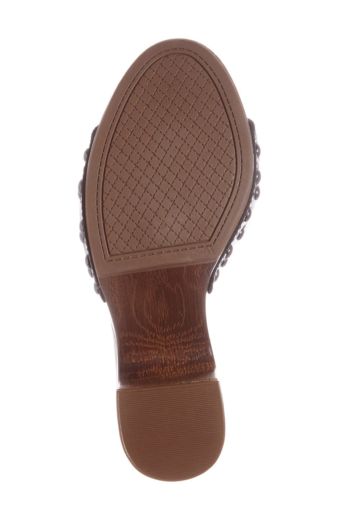 'Karema' Clog Platform Sandal,                             Alternate thumbnail 4, color,                             001