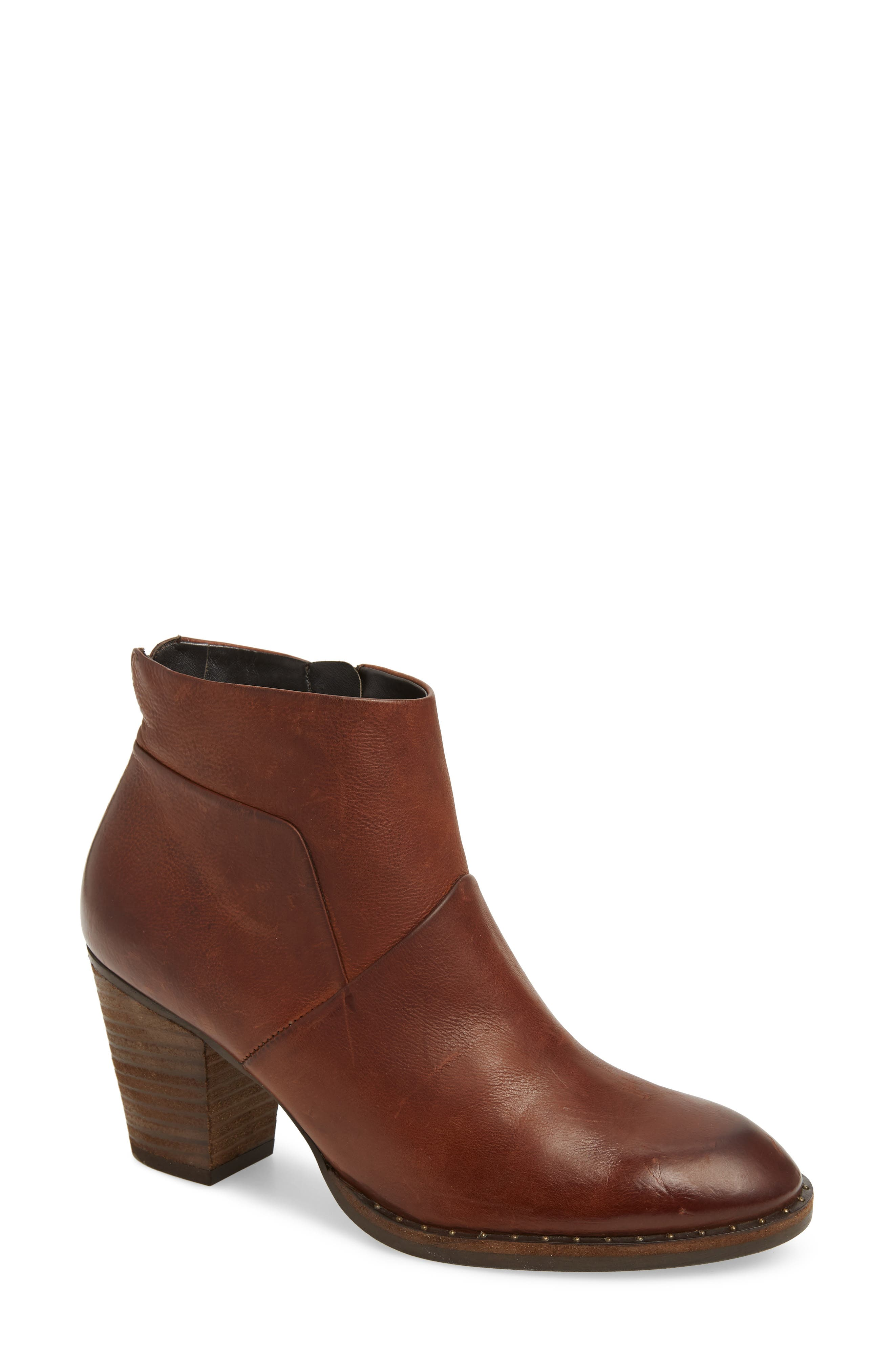 Stella Bootie,                         Main,                         color, SADDLE LEATHER