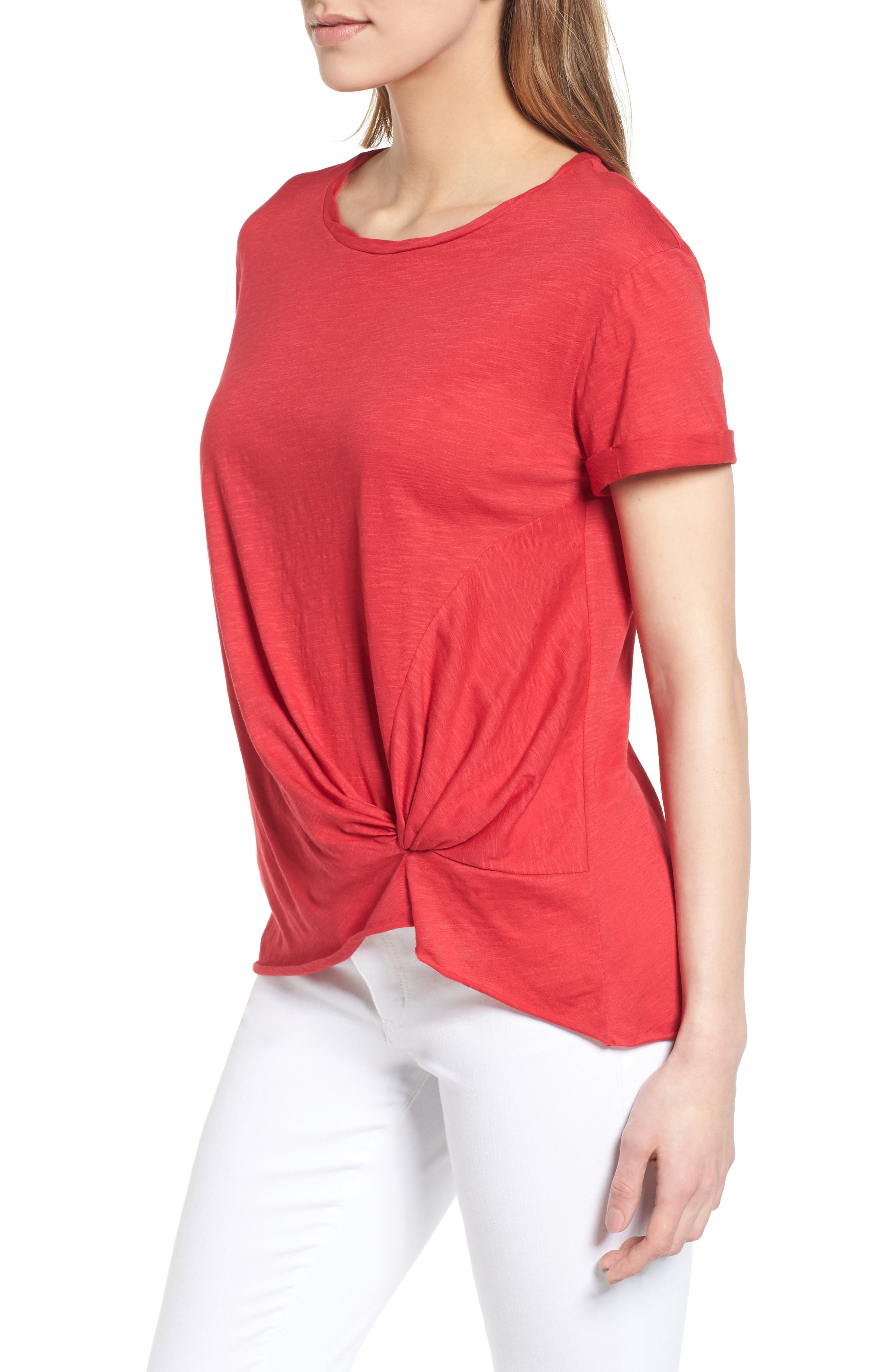 Knotted Tee,                             Alternate thumbnail 3, color,                             601