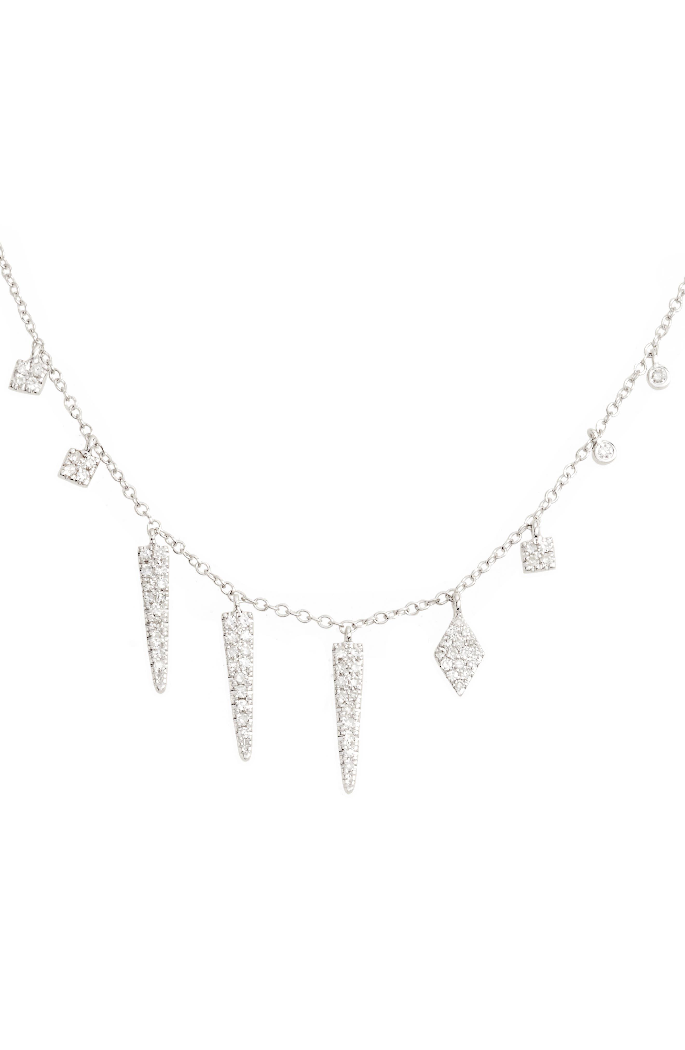 Diamond Spike Dangle Charm Necklace,                             Main thumbnail 1, color,                             711