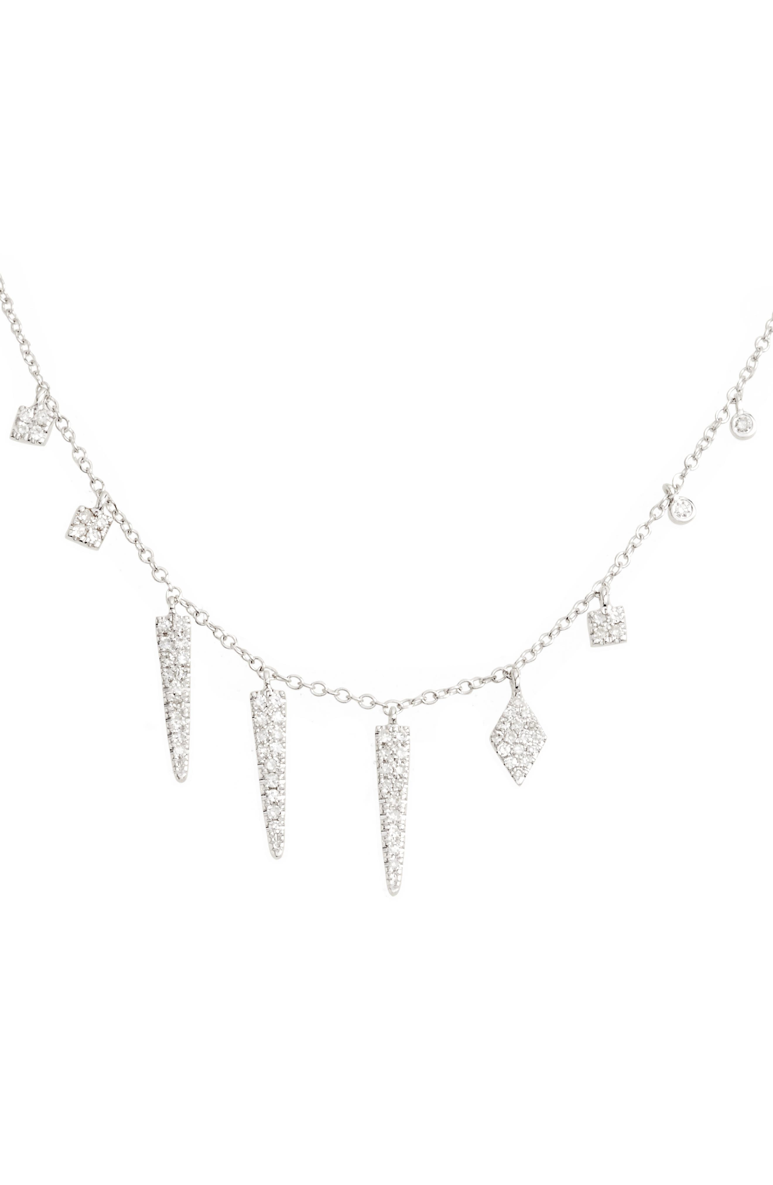 Diamond Spike Dangle Charm Necklace,                         Main,                         color, 711