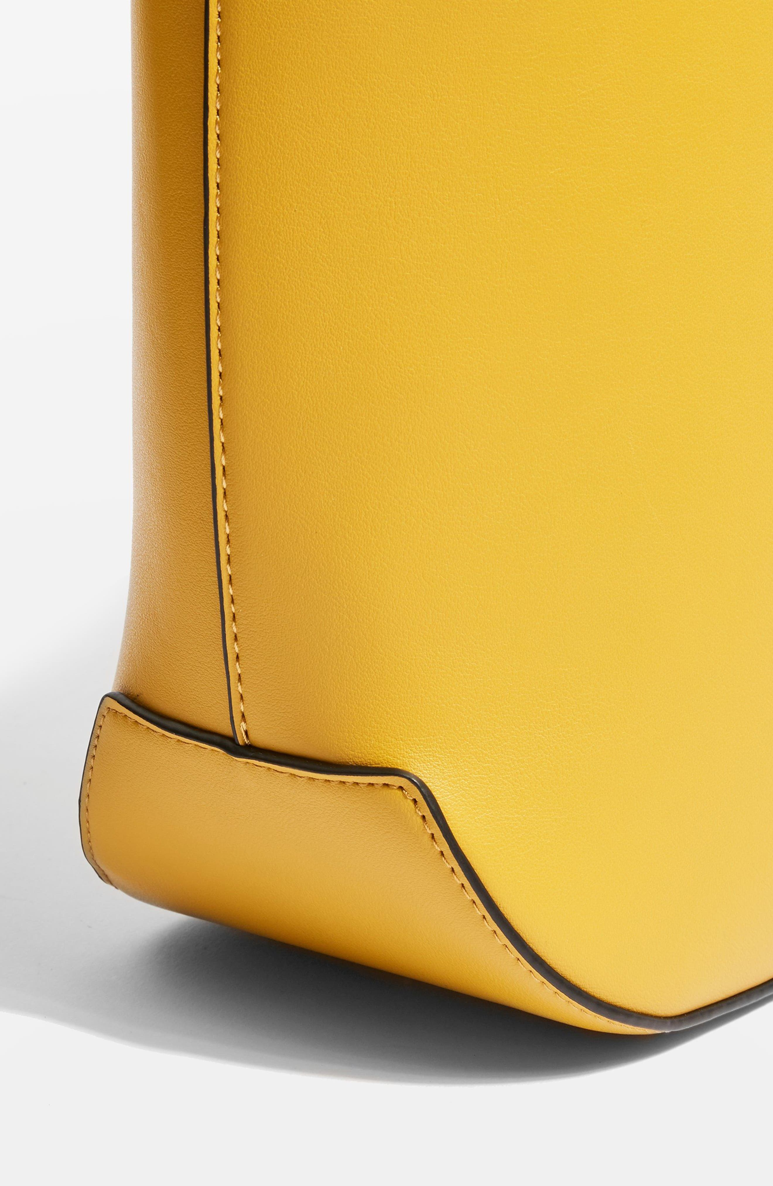 Romy Bucket Shoulder Handbag,                             Alternate thumbnail 3, color,                             YELLOW MULTI