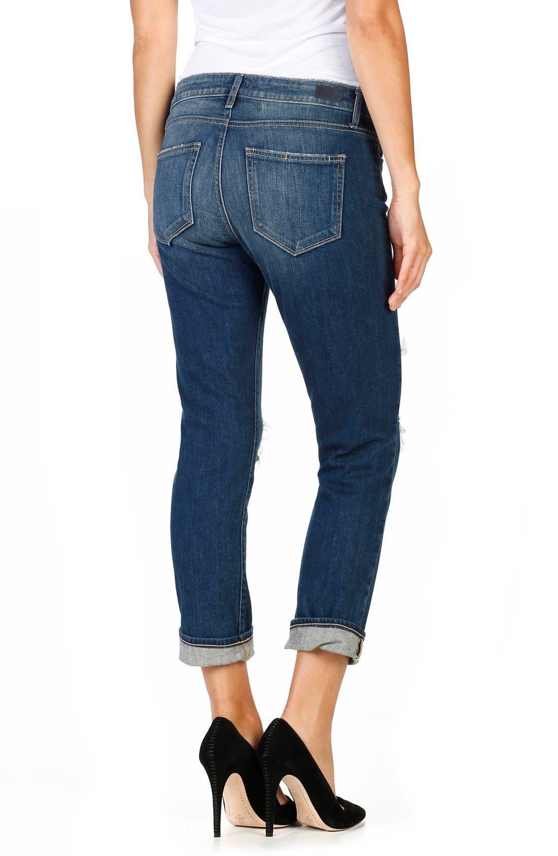 Brigitte Crop Boyfriend Jeans,                             Alternate thumbnail 2, color,                             400