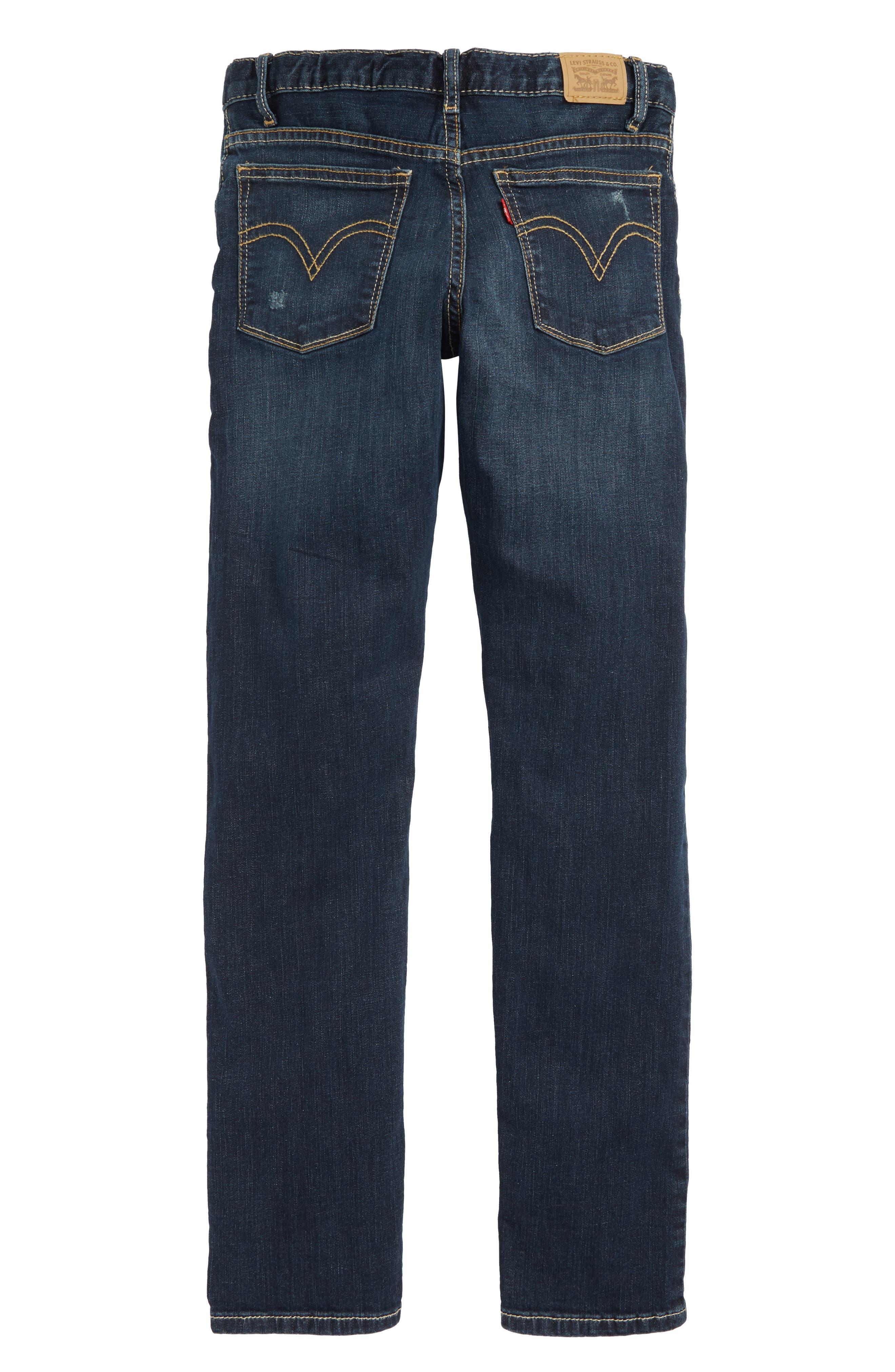 505C<sup>™</sup> Ripped Skinny Jeans,                             Alternate thumbnail 2, color,                             BLUE ASPHALT