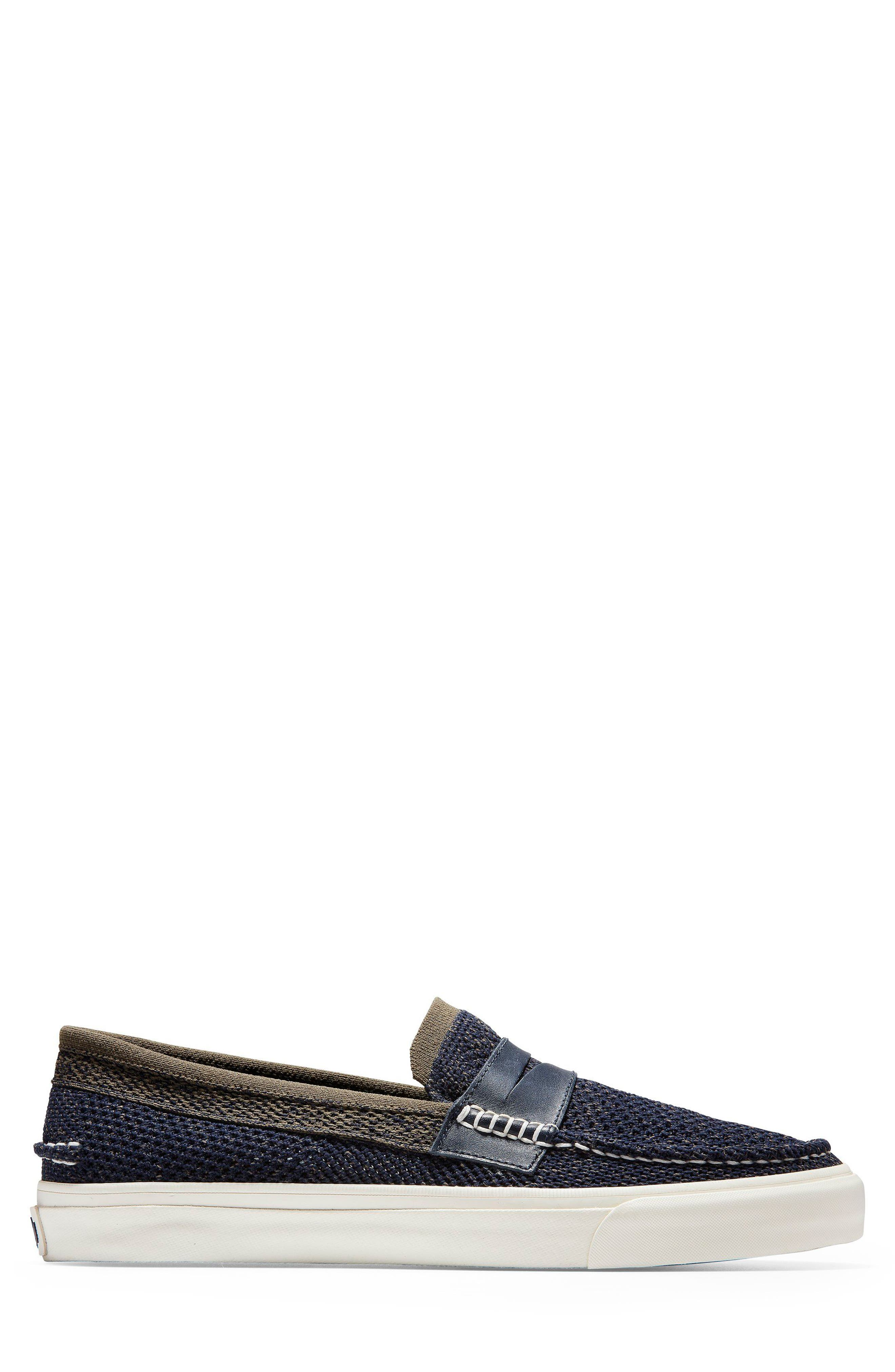 Pinch Stitch LX Stitchlite<sup>™</sup> Penny Loafer,                             Alternate thumbnail 3, color,                             NAVY/ MOREL