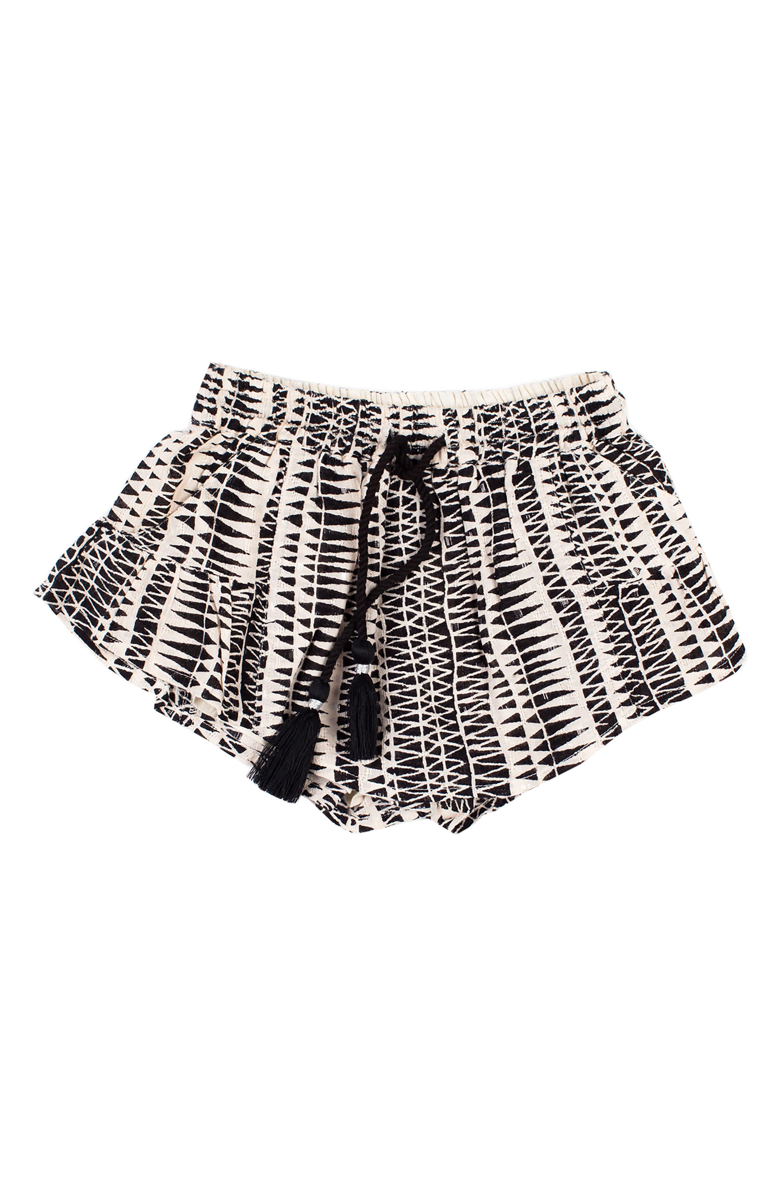 Little Dipper Print Shorts,                         Main,                         color, BLACK