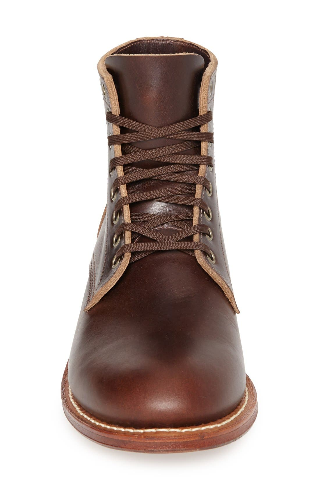 Plain Toe Trench Boot,                             Alternate thumbnail 4, color,                             BROWN