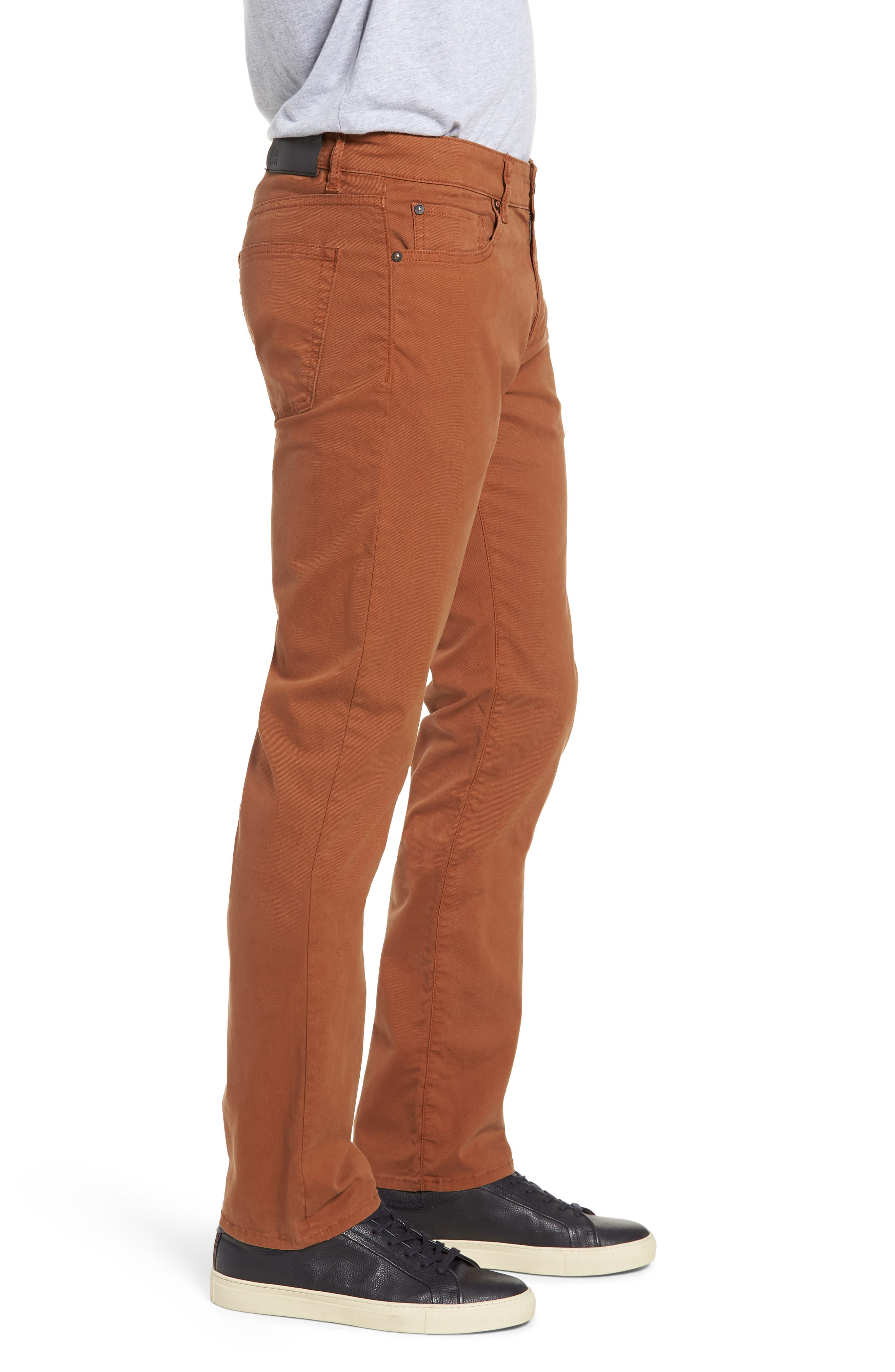 Russell Slim Straight Leg Jeans,                             Alternate thumbnail 3, color,                             TERRACOTTA