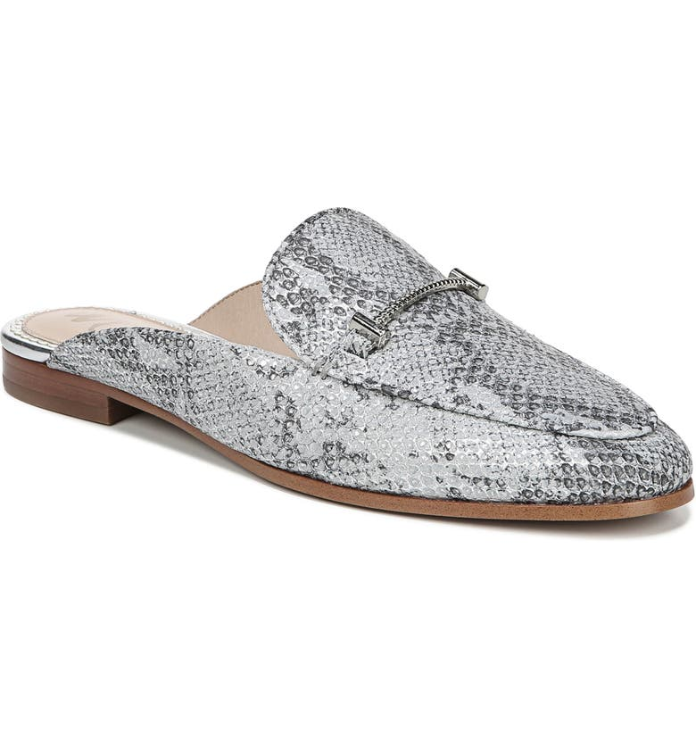 Laurna Mule, Main, color, SILVER SNAKE PRINT LEATHER