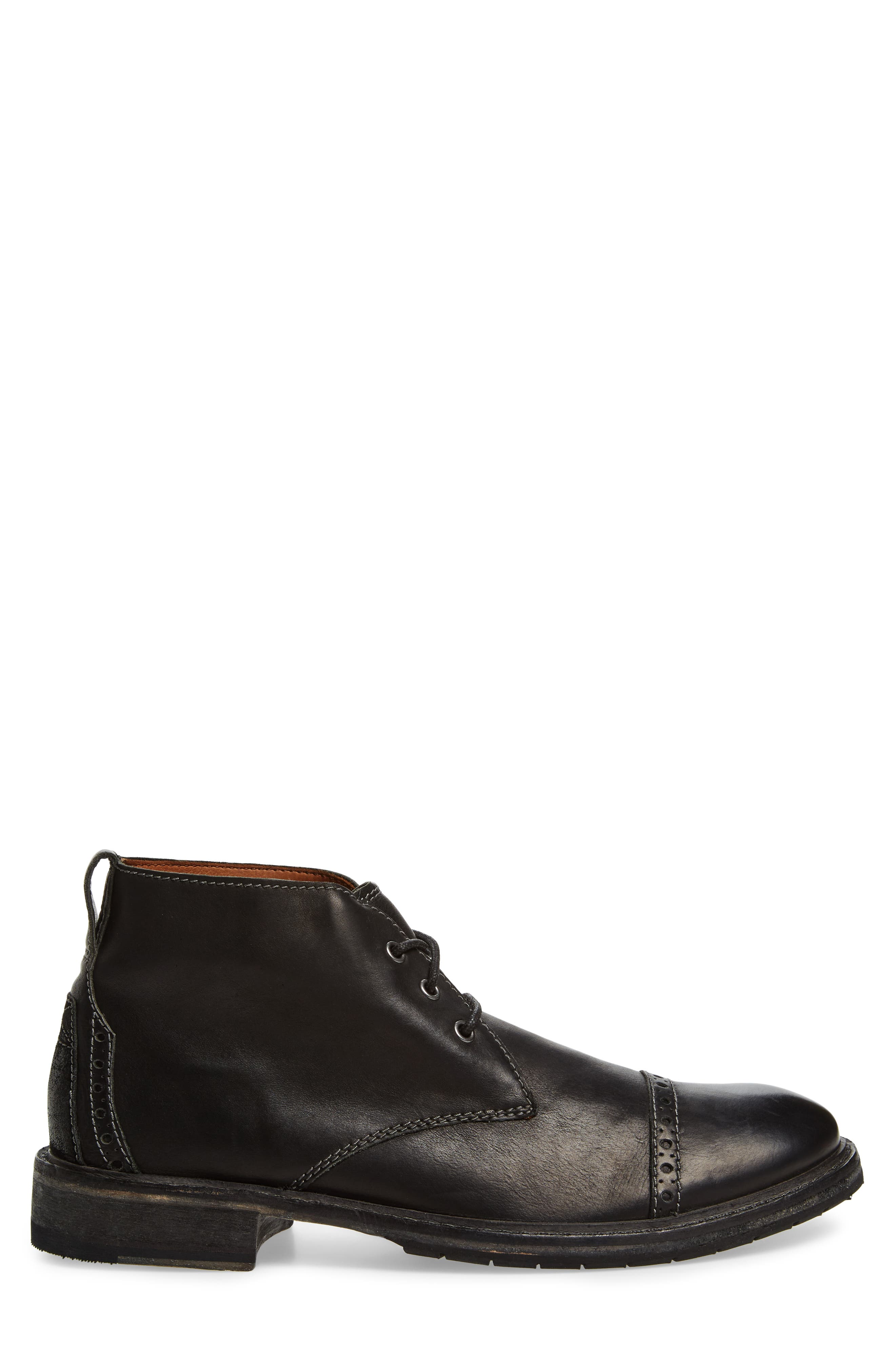 Clarkdale Water Resistant Chukka Boot,                             Alternate thumbnail 3, color,                             003