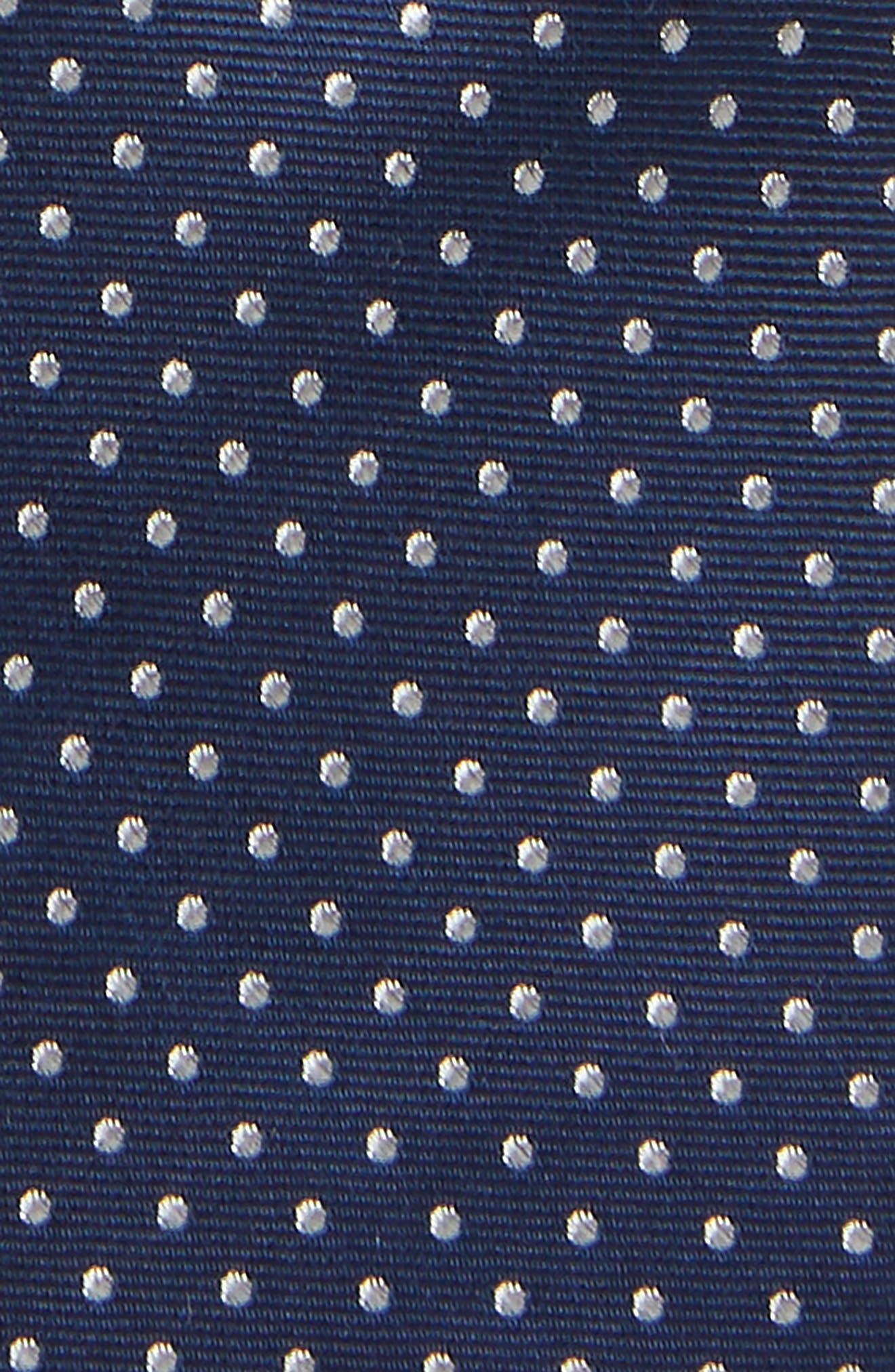 MICHAEL KORS,                             Dot Silk Tie,                             Alternate thumbnail 2, color,                             NAVY