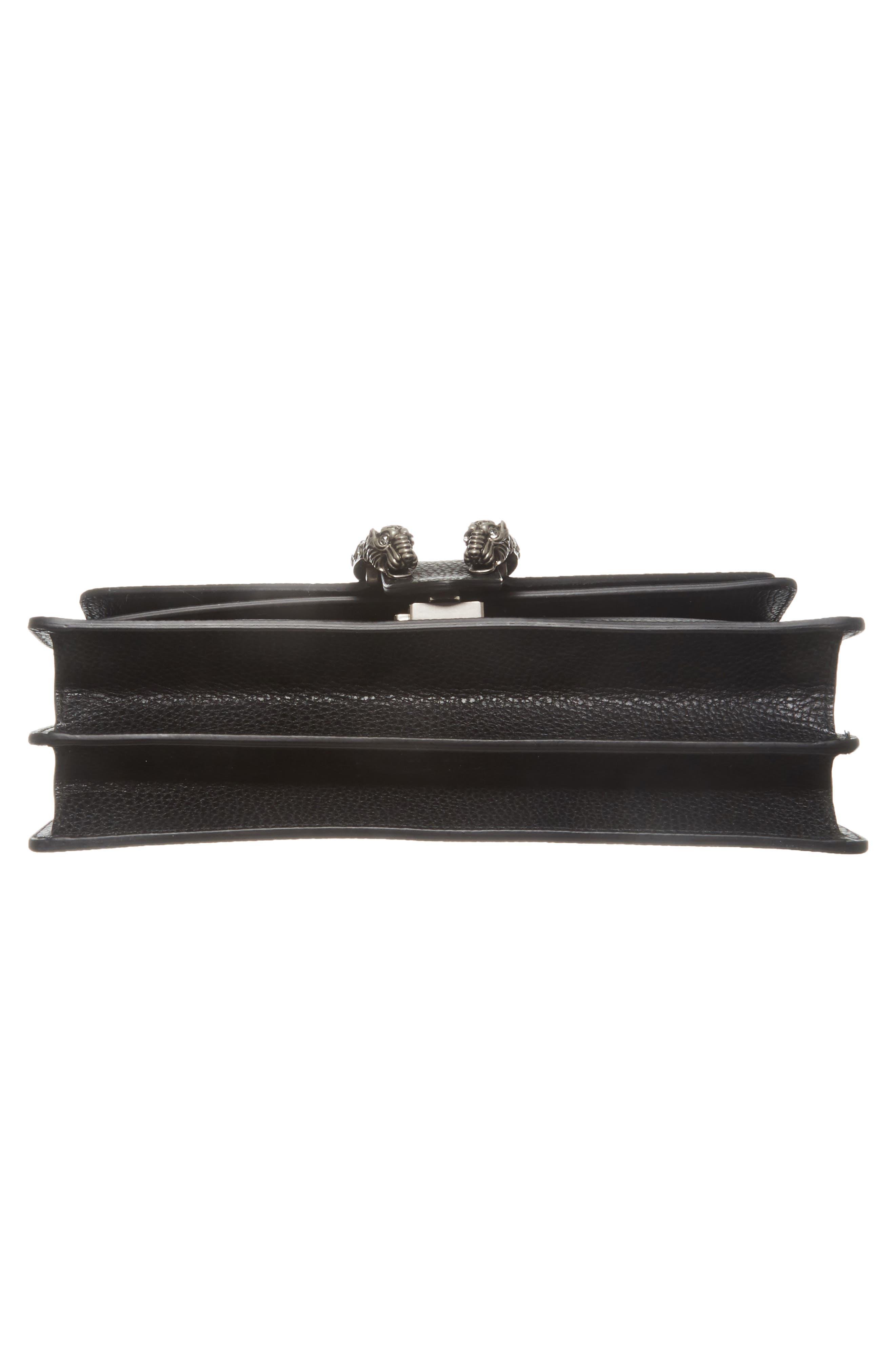 Small Dionysus Leather Shoulder Bag,                             Alternate thumbnail 6, color,                             8176 NERO/BLACK DIAMOND
