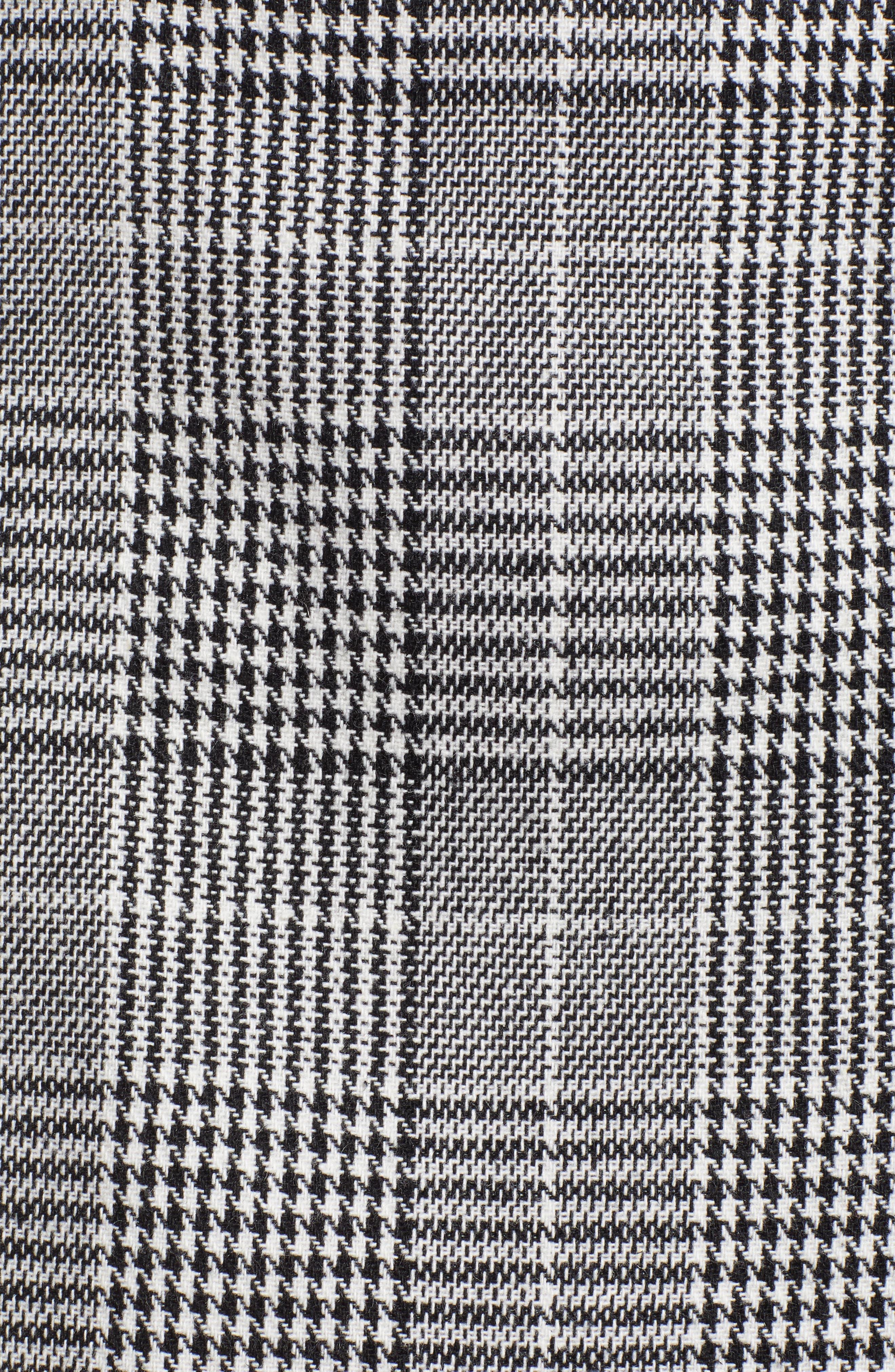 Plaid Miniskirt,                             Alternate thumbnail 5, color,                             BLACK SHAROL PLAID