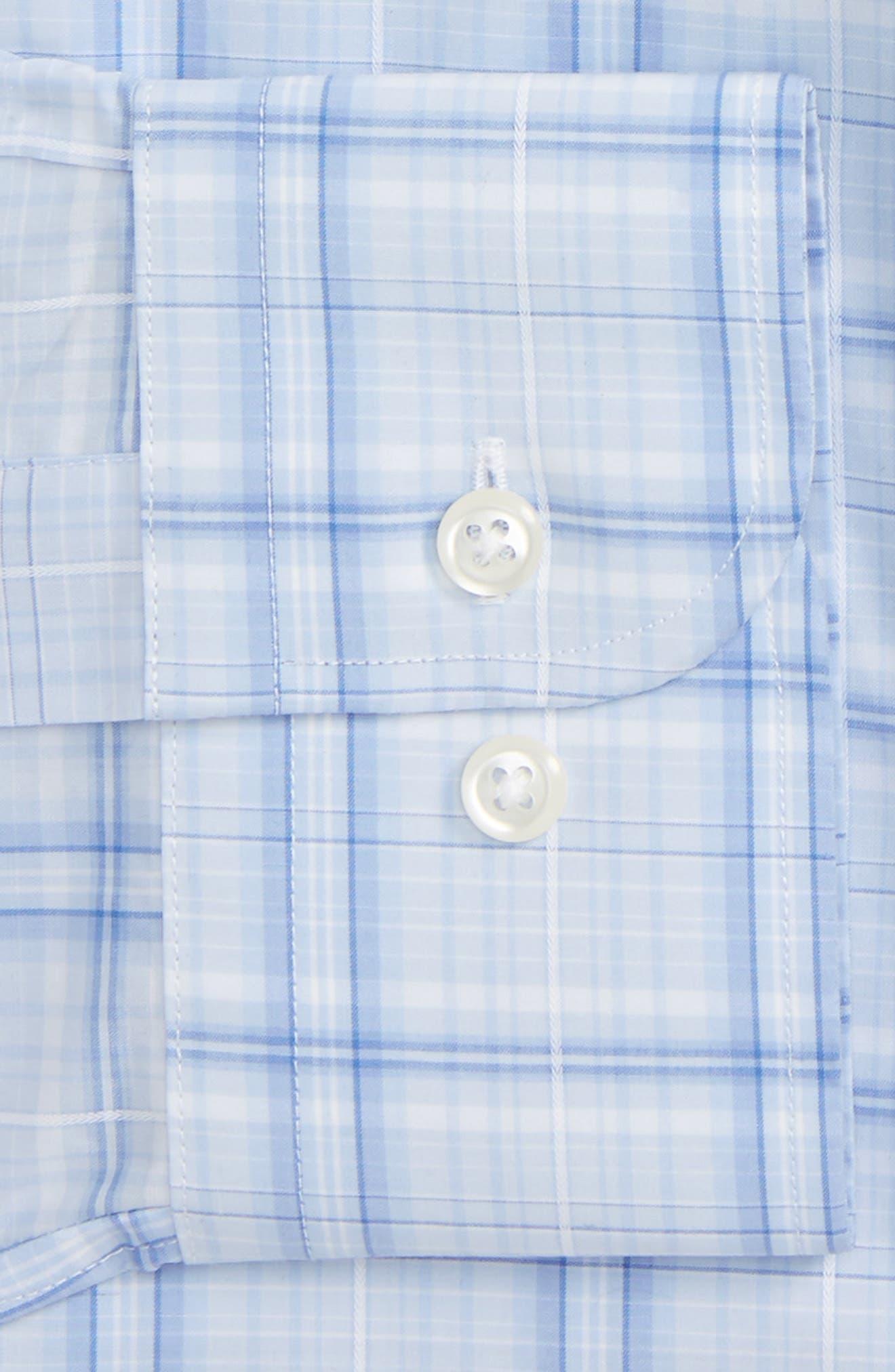 Trim Fit Plaid Dress Shirt,                             Alternate thumbnail 2, color,                             450