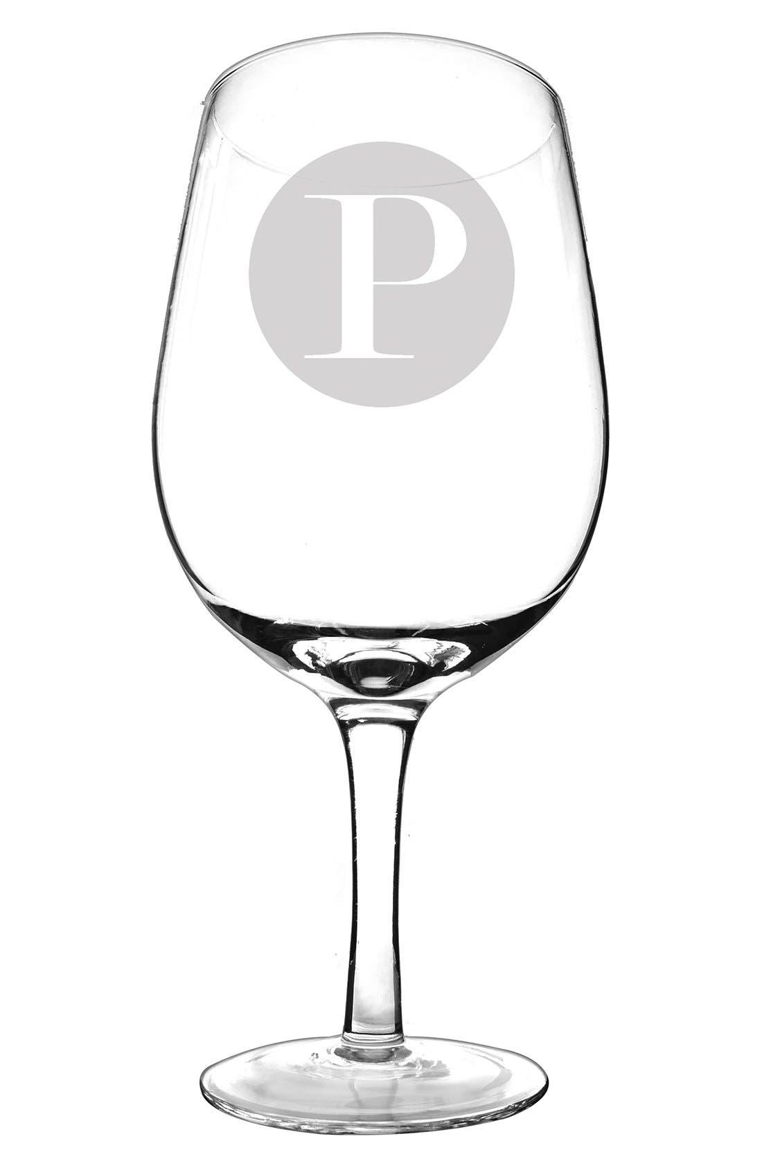 Monogram 'XL' Novelty Wine Glass,                             Main thumbnail 1, color,                             115