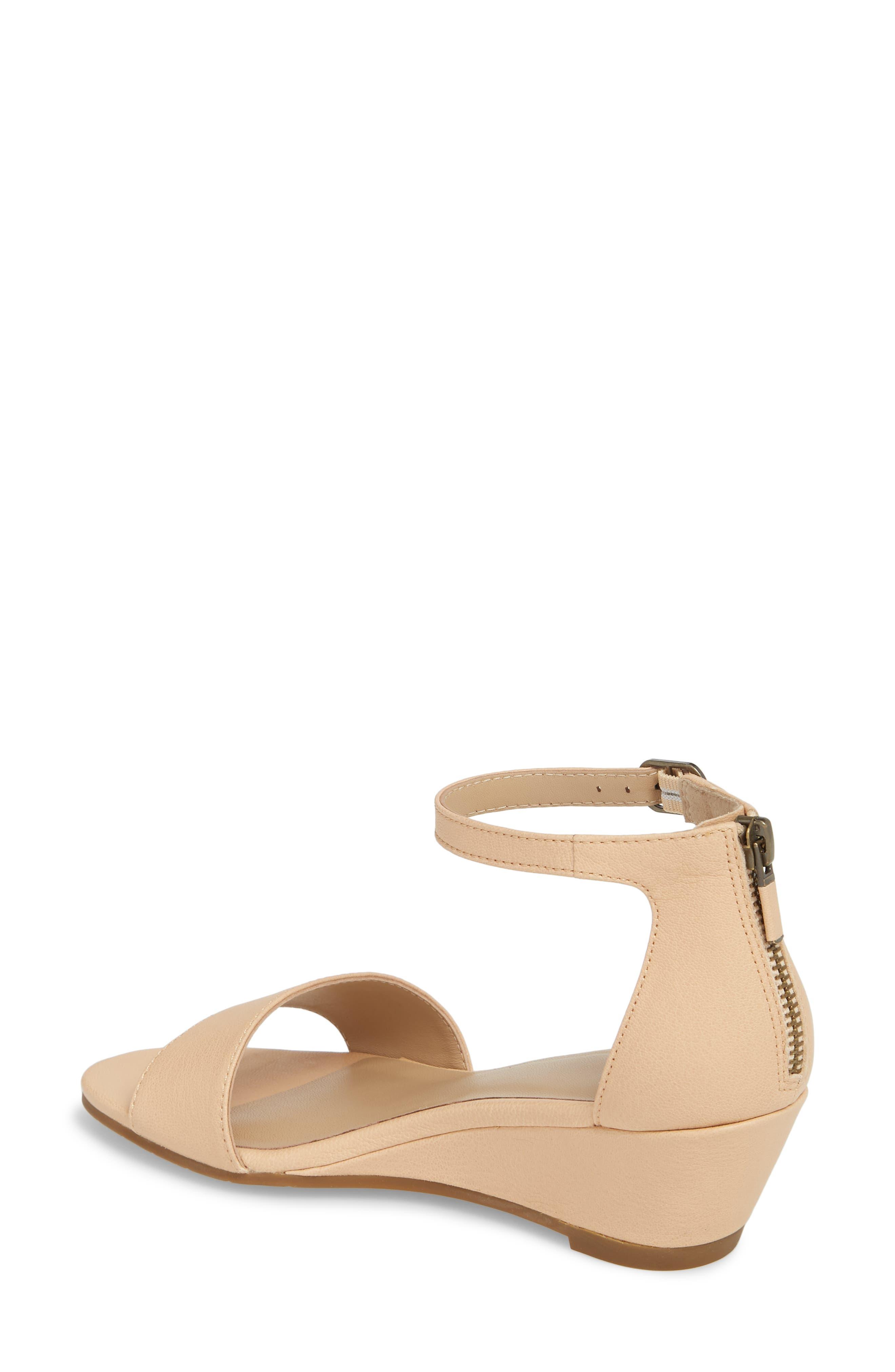 Mara Ankle Strap Wedge Sandal,                             Alternate thumbnail 6, color,
