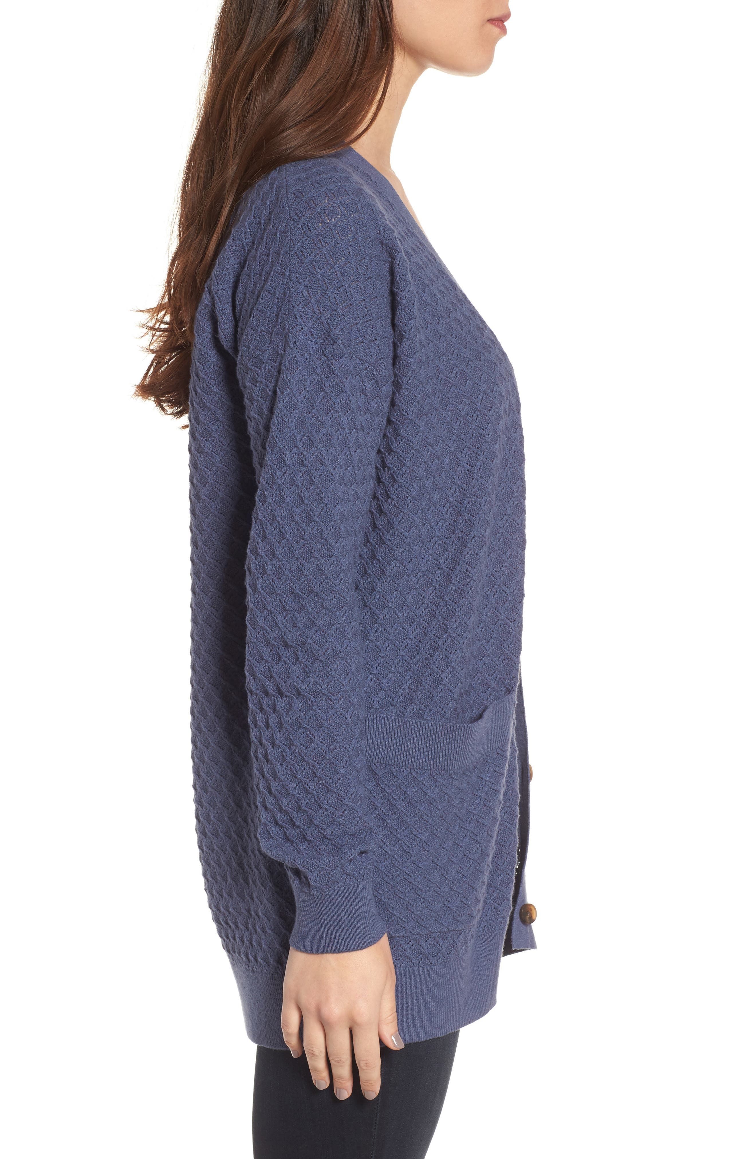 Pointelle Cardigan Sweater,                             Alternate thumbnail 11, color,
