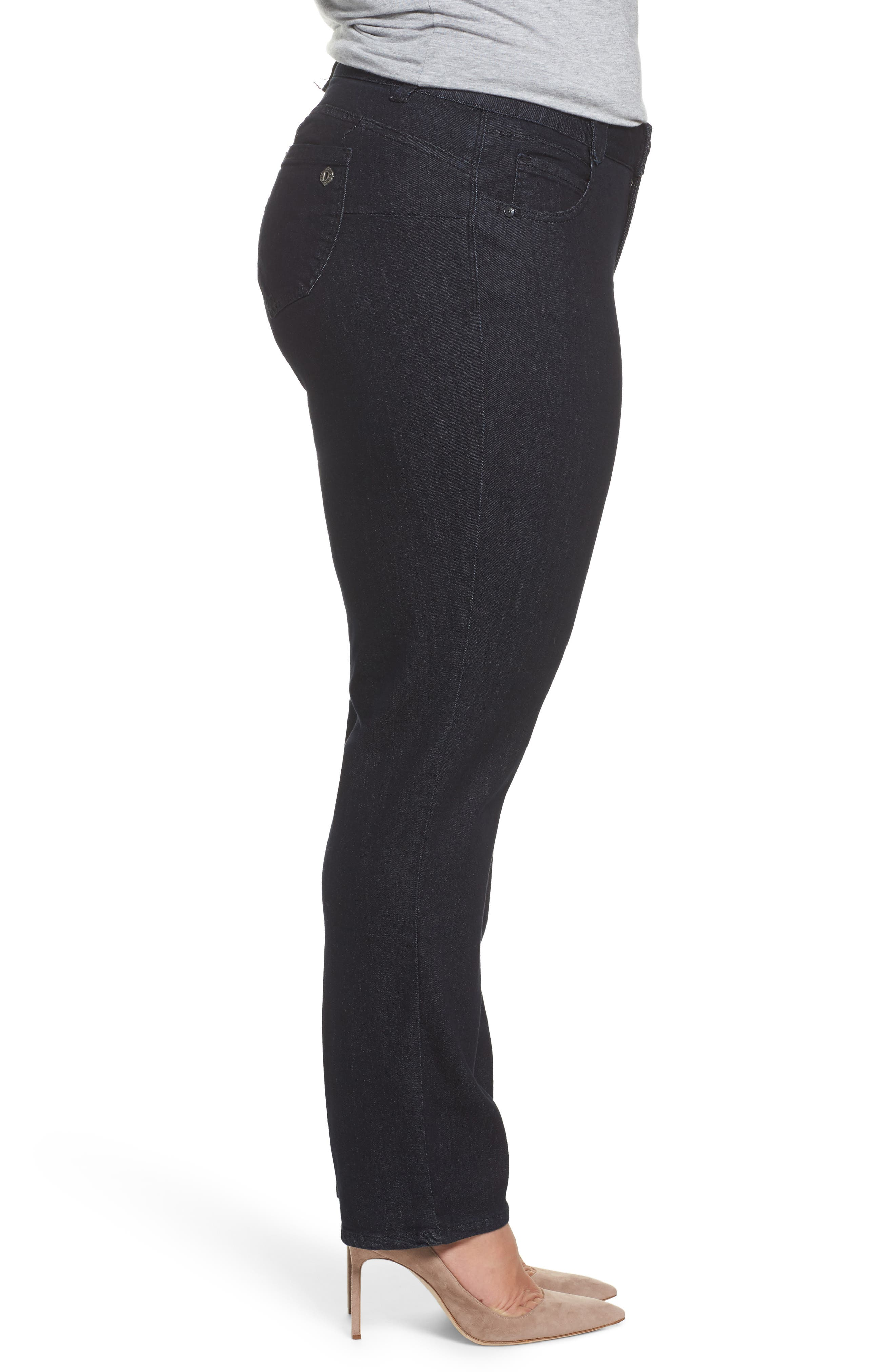 Ab-Solution Stretch Straight Leg Jeans,                             Alternate thumbnail 3, color,                             402