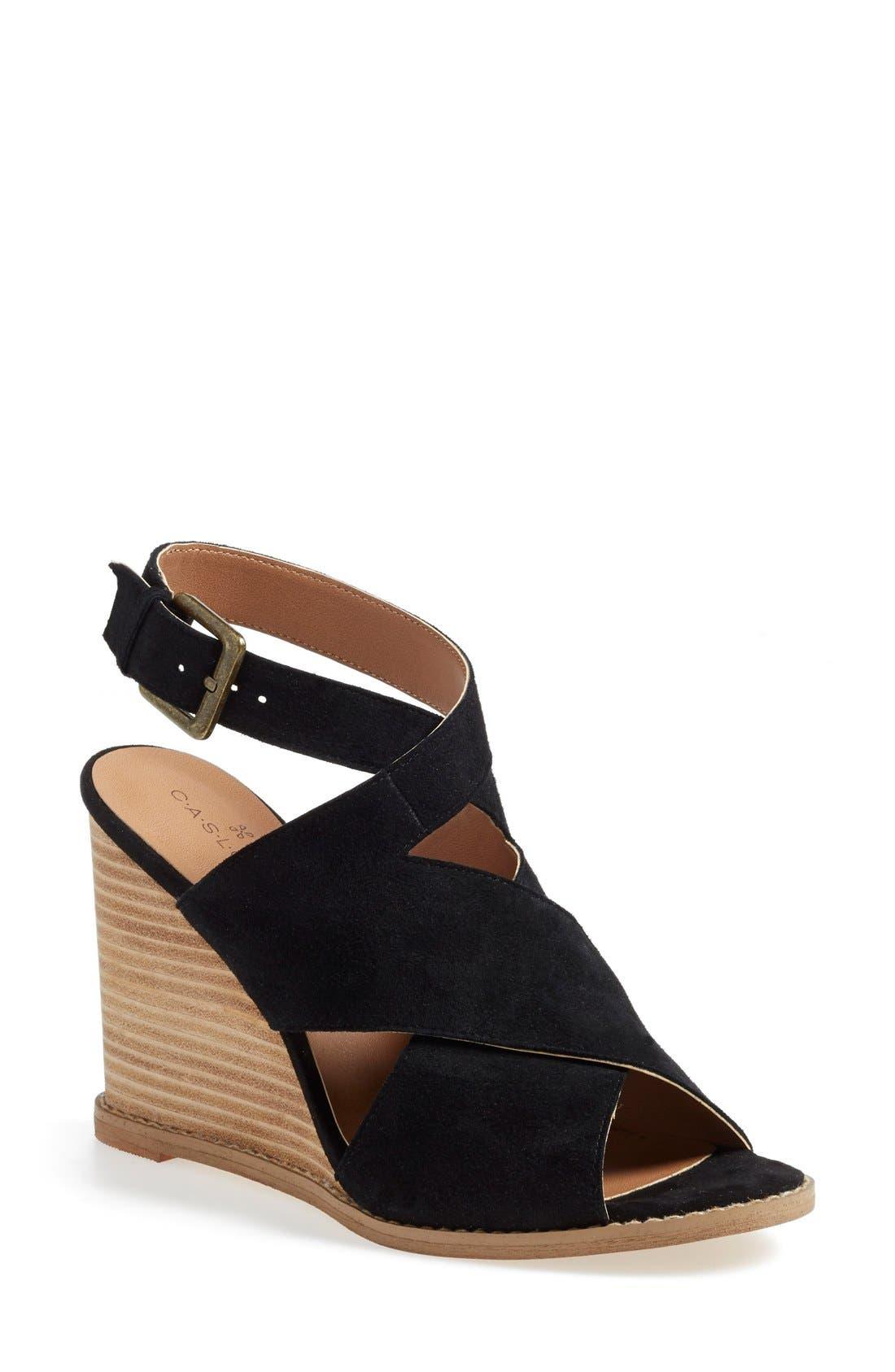 Caslon 'Hallie' Sandal, Main, color, 001