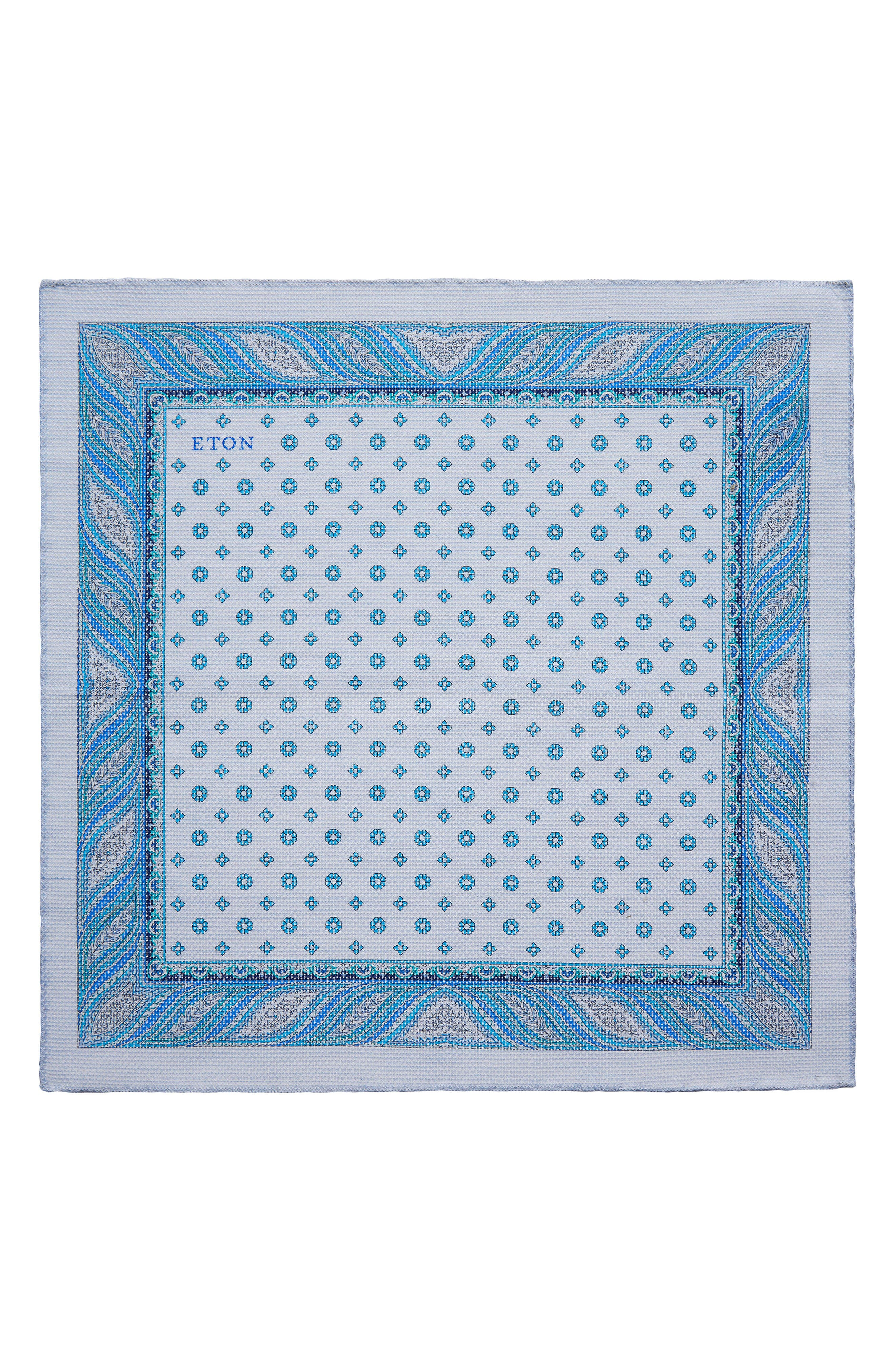 Medallion Cotton Pocket Square,                         Main,                         color, 400