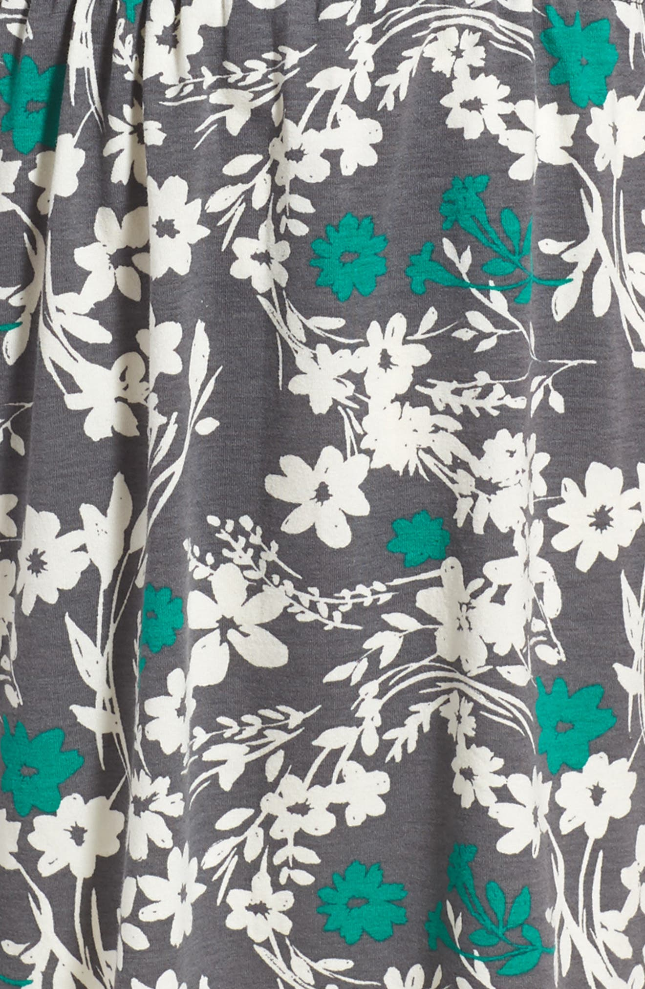 Cold Shoulder Print Dress,                             Alternate thumbnail 4, color,                             030