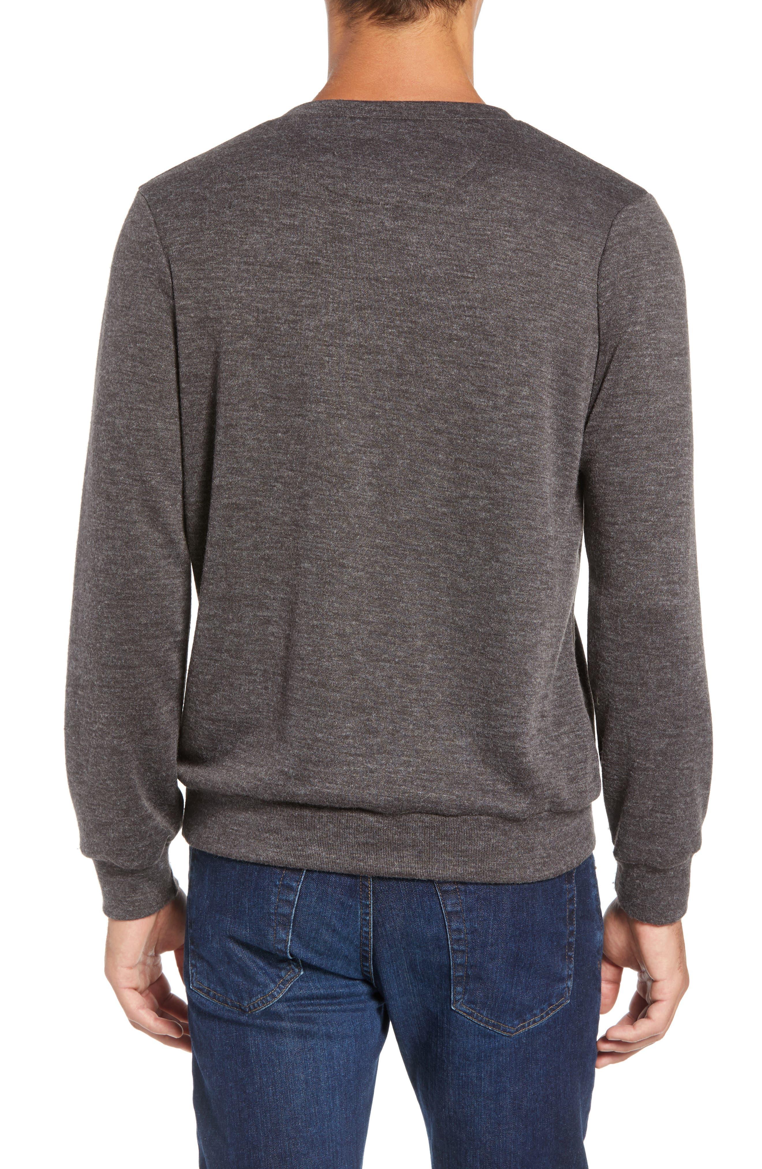 Prospect V-Neck Performance Sweater,                             Alternate thumbnail 2, color,                             CHARCOAL
