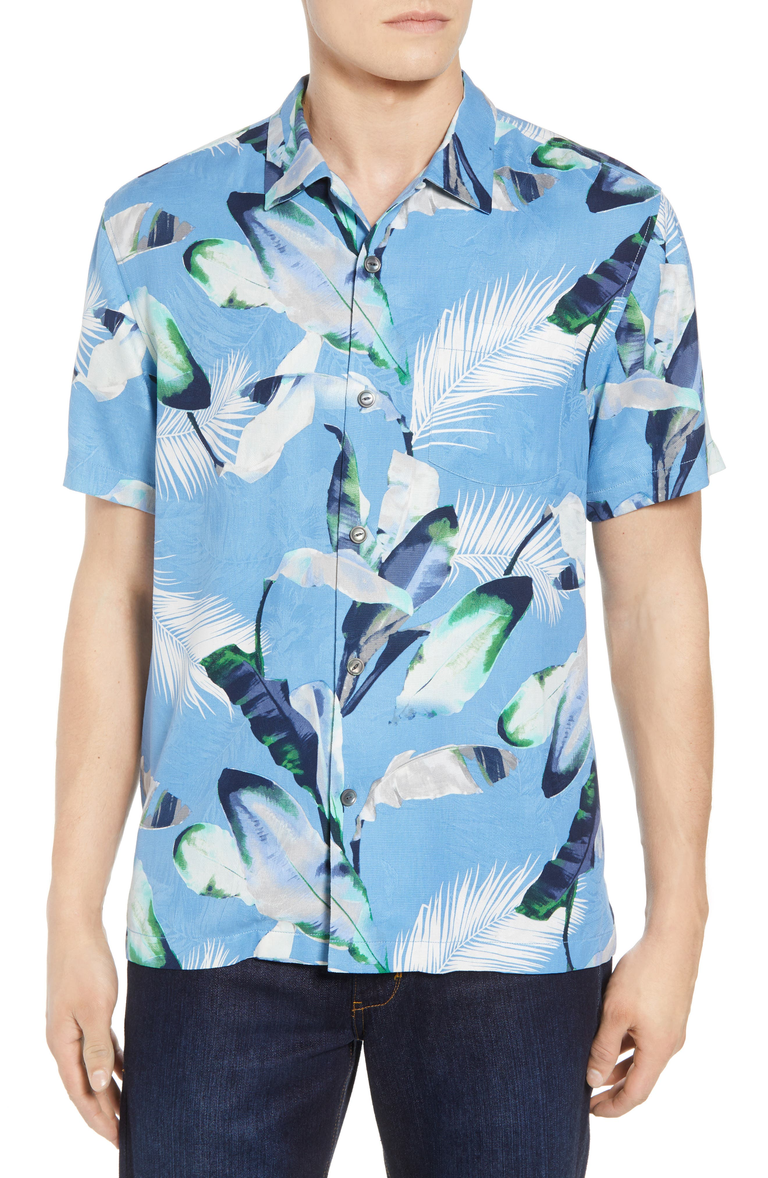 Garden of Hope and Courage Silk Camp Shirt,                             Main thumbnail 2, color,