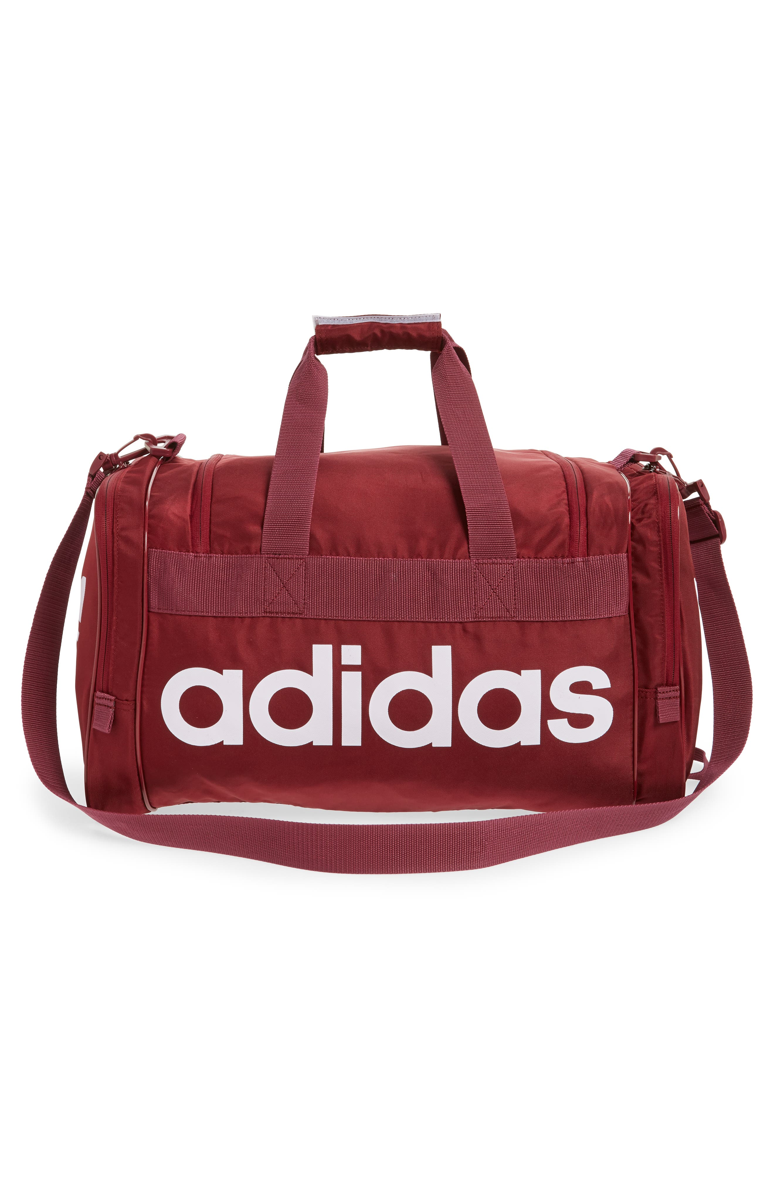 adidas Original Santiago Duffel Bag,                             Alternate thumbnail 3, color,                             COLLEGIATE BURGUNDY/ WHITE