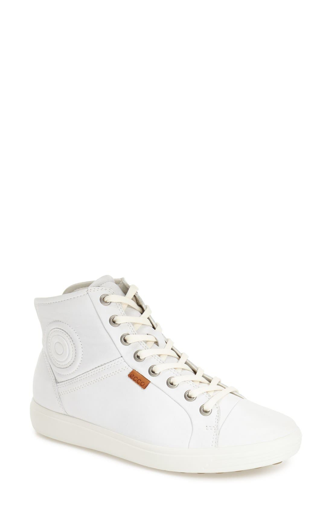 'Soft 7' High Top Sneaker,                             Main thumbnail 1, color,                             WHITE