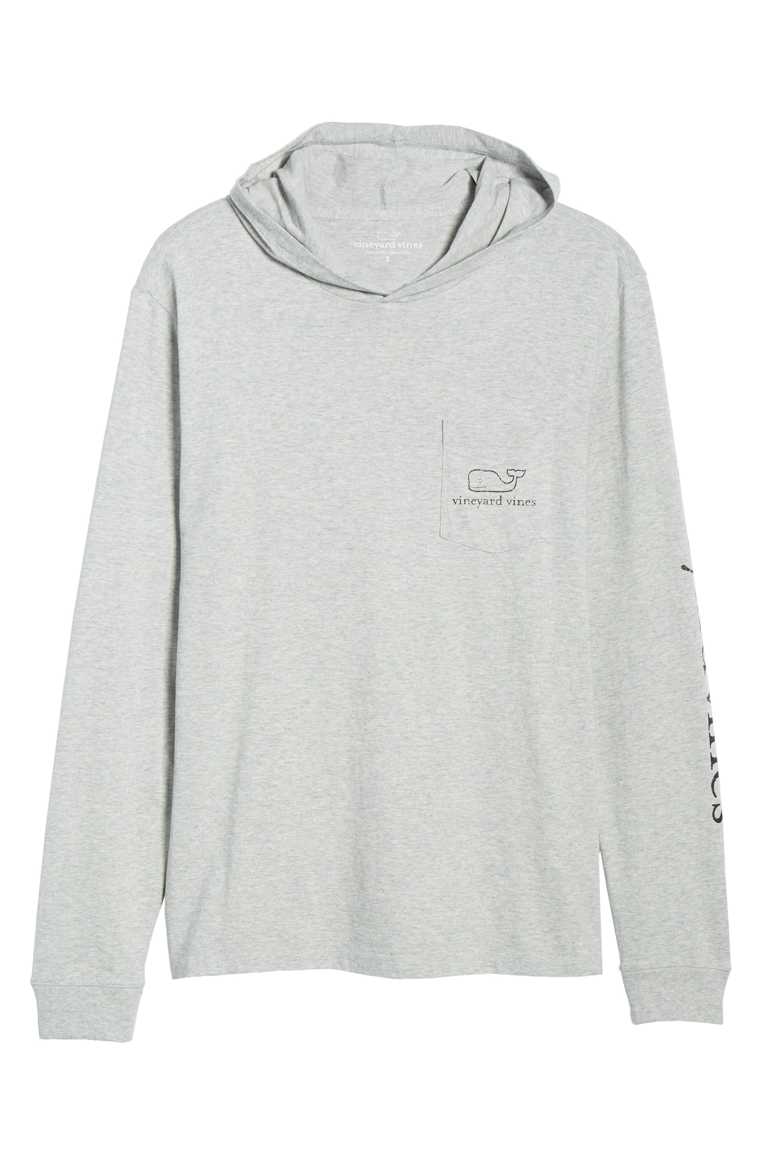 Whale Graphic Long Sleeve Hooded T-Shirt,                             Alternate thumbnail 6, color,                             GREY HEATHER