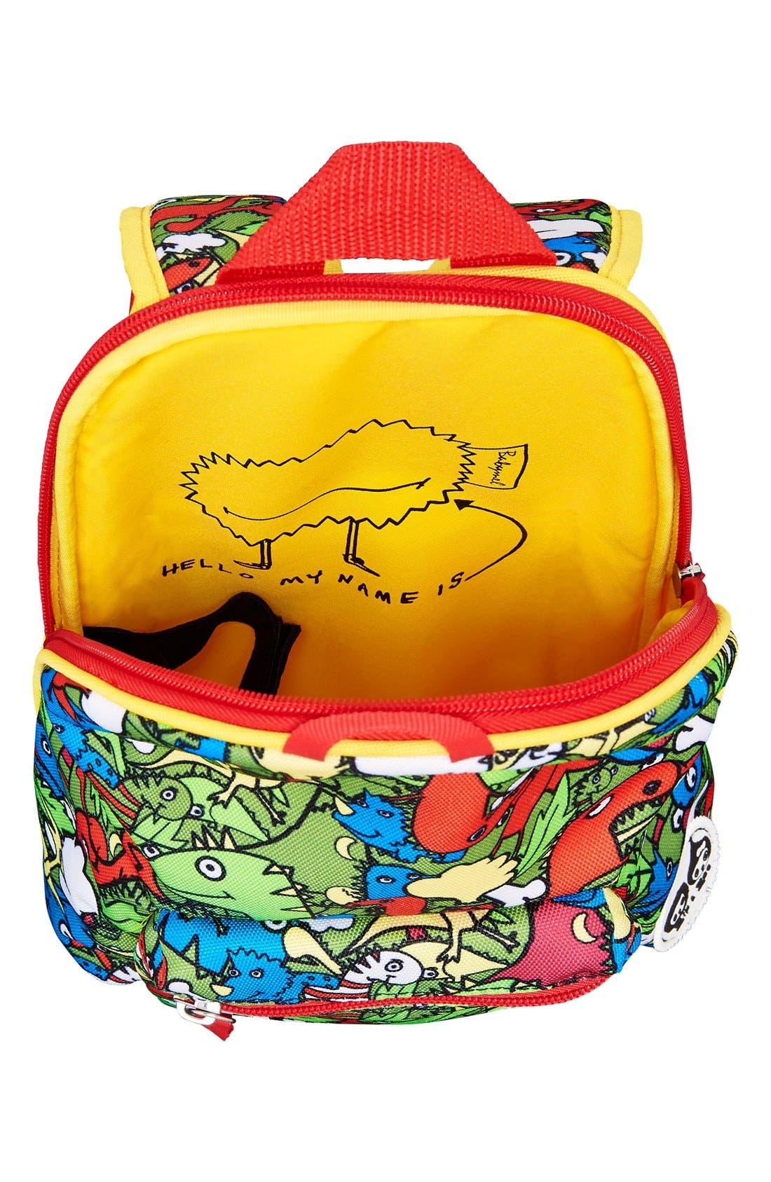 Graphic Mini Backpack,                             Alternate thumbnail 4, color,                             DINO MULTI