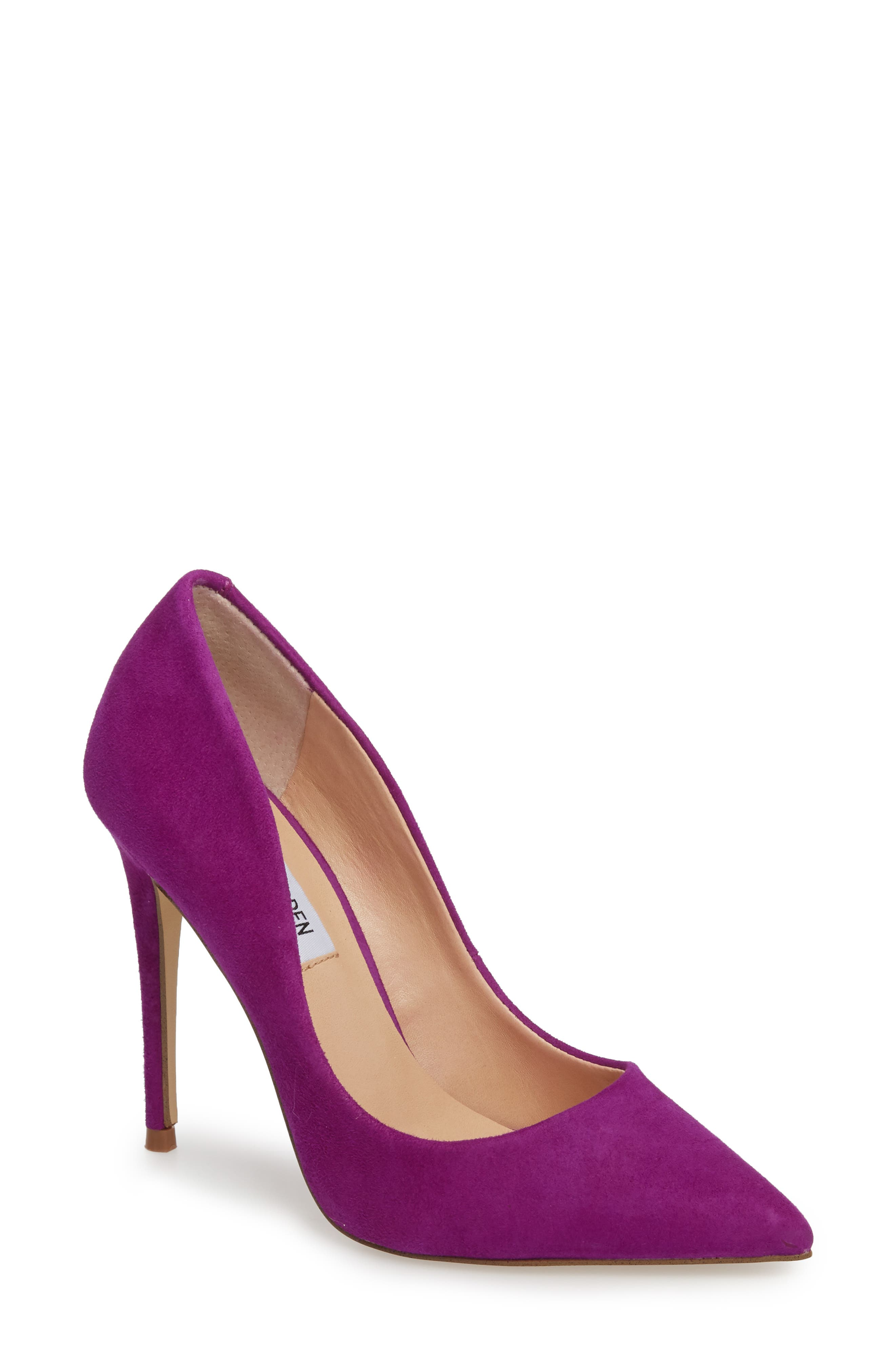 Daisie Pointy-Toe Pump,                             Main thumbnail 1, color,                             PURPLE SUEDE