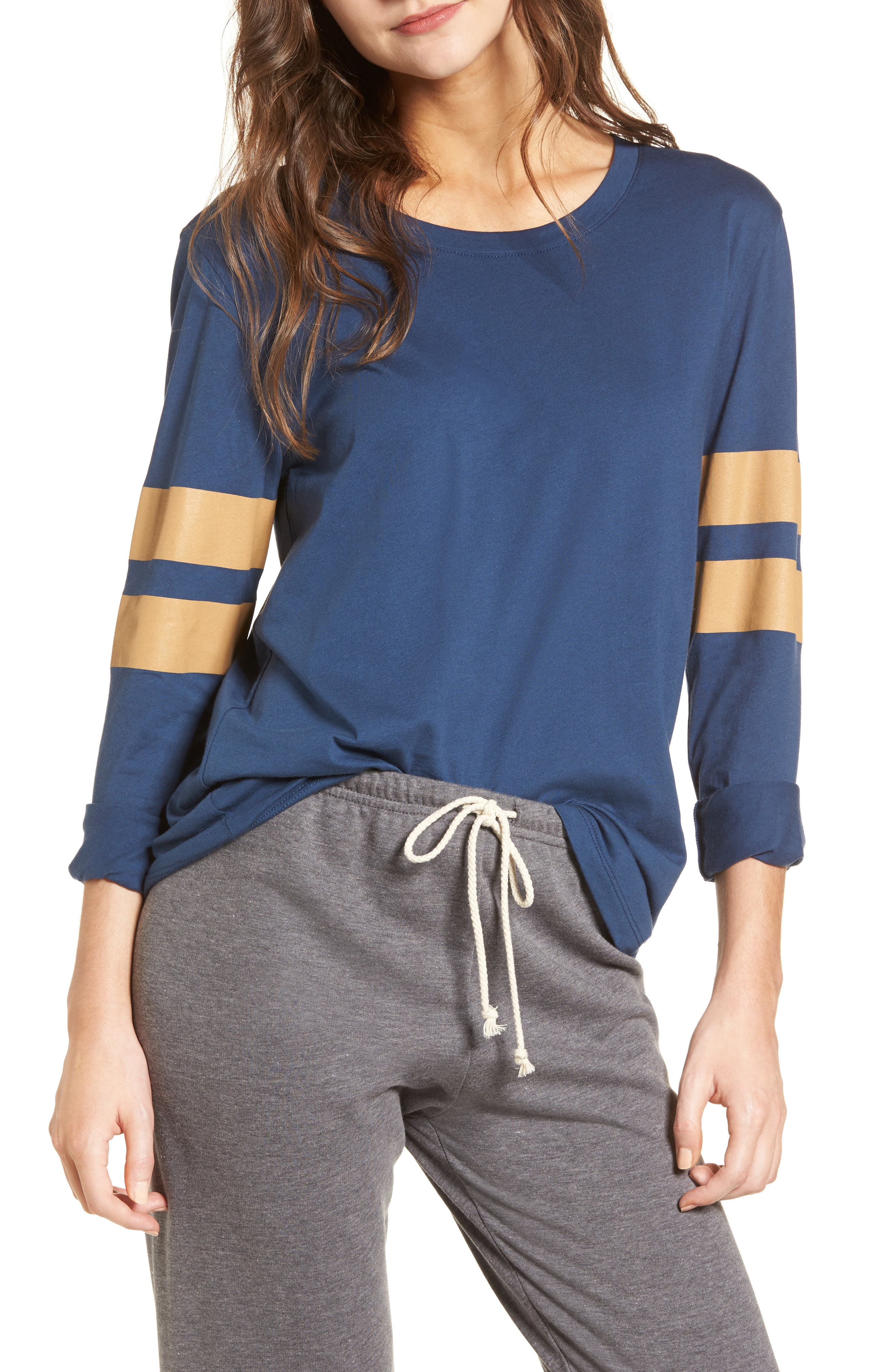 Varsity Stripe Cotton Tee,                             Main thumbnail 13, color,