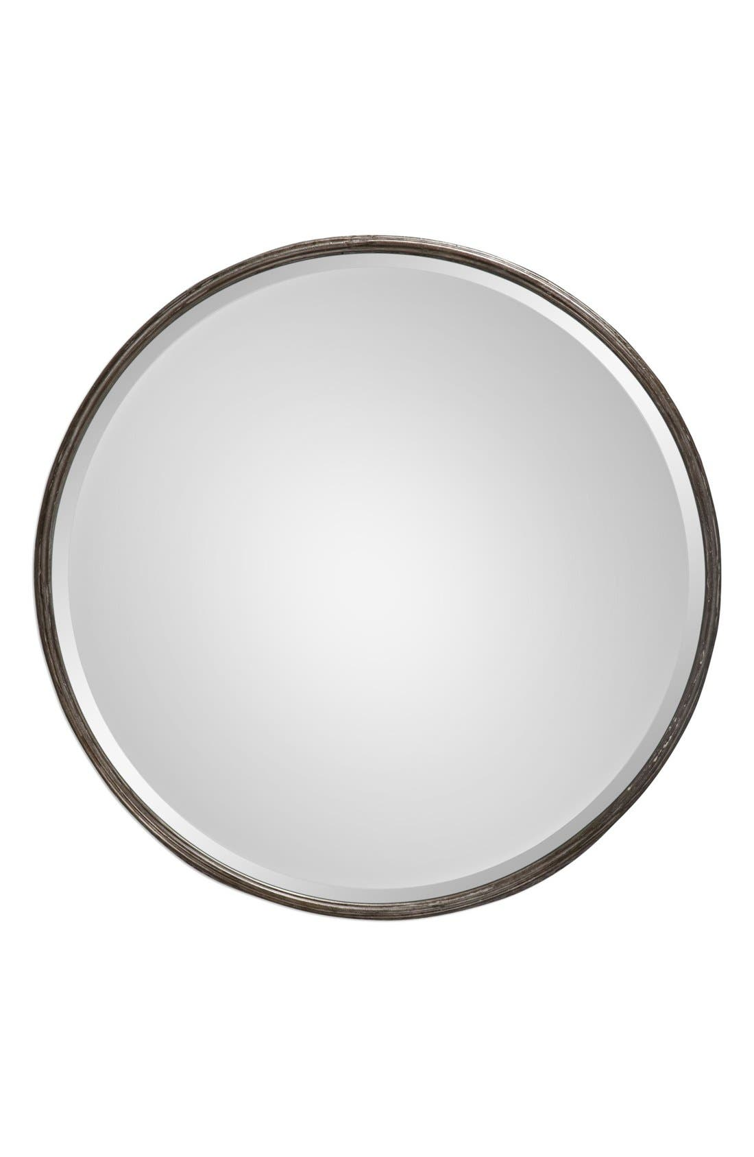 'Nova' Round Metal Mirror,                             Main thumbnail 1, color,