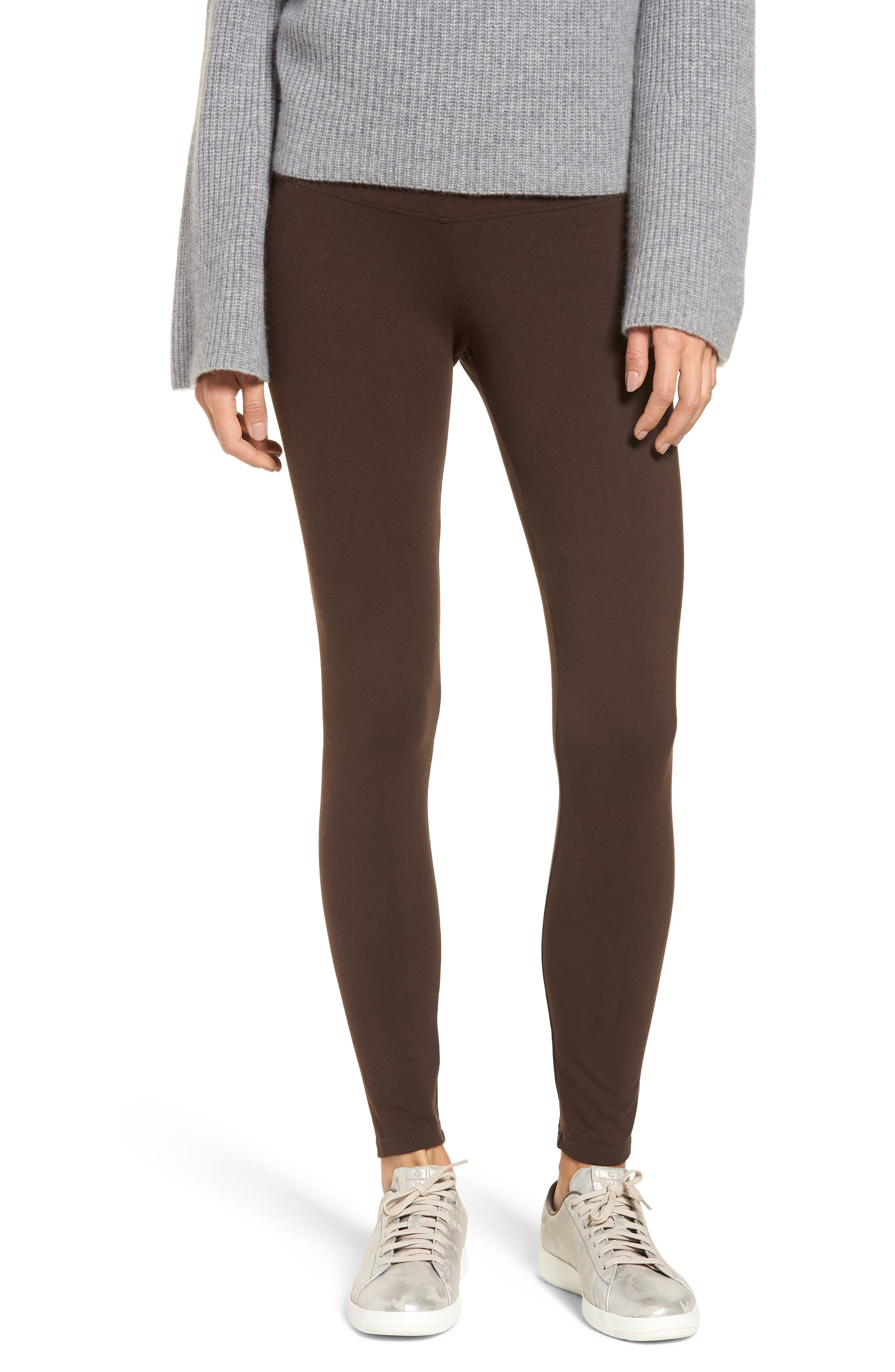 'Rachel' High Waist Leggings,                         Main,                         color, CHOCOLATE TORTE